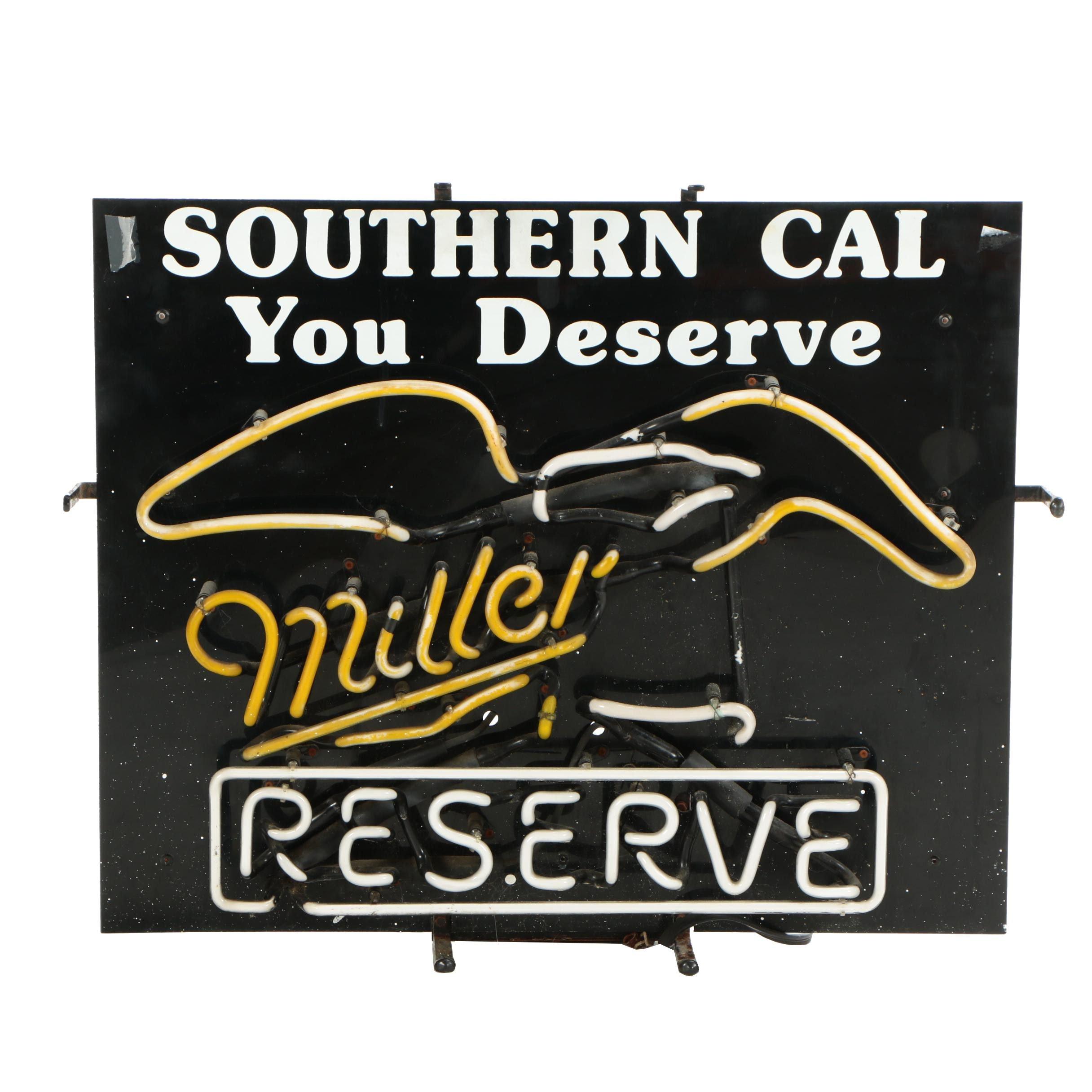 Miller Reserve Neon Advertising Sign