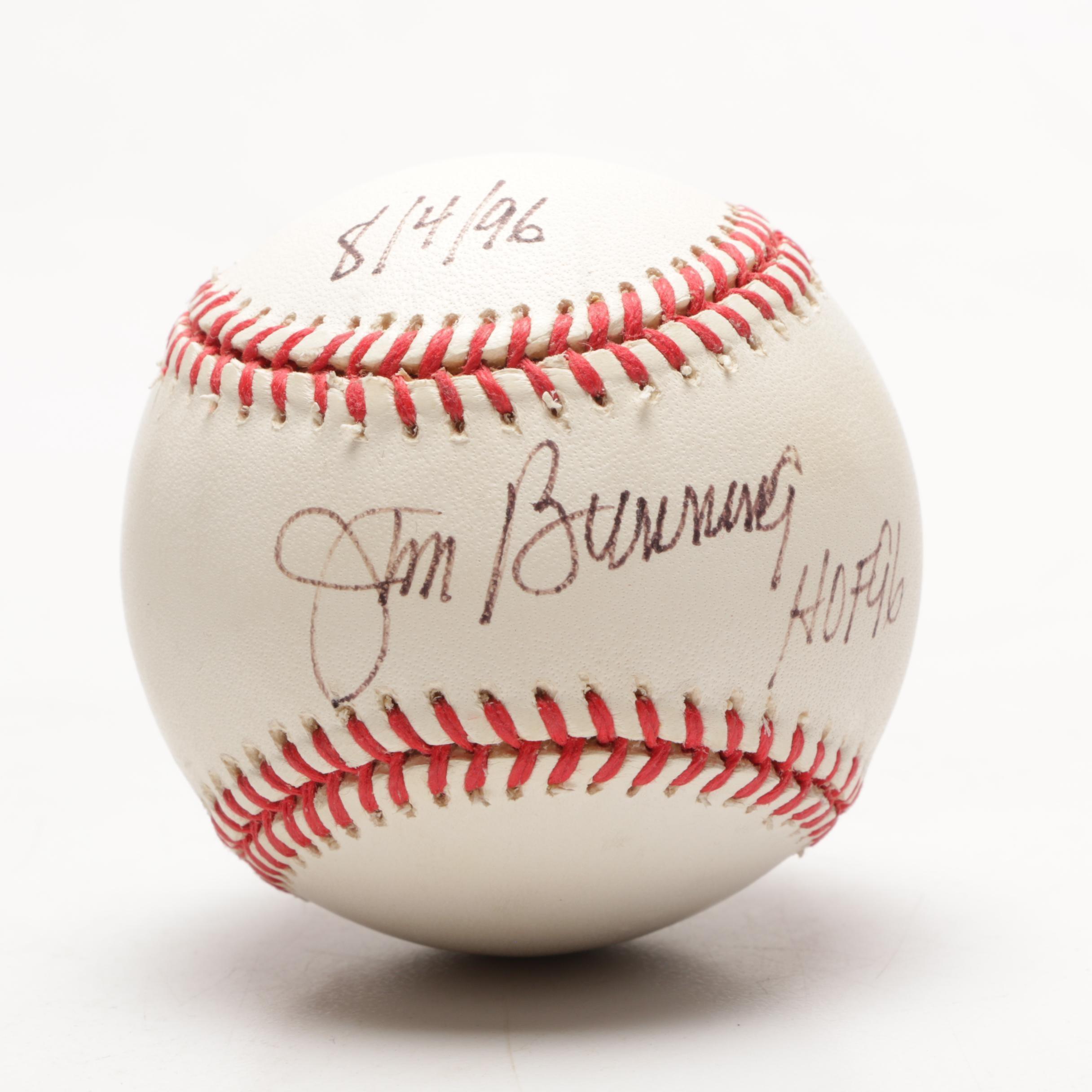 (HOF) Pitcher and U.S. Senator Jim Bunning Signed National League Baseball