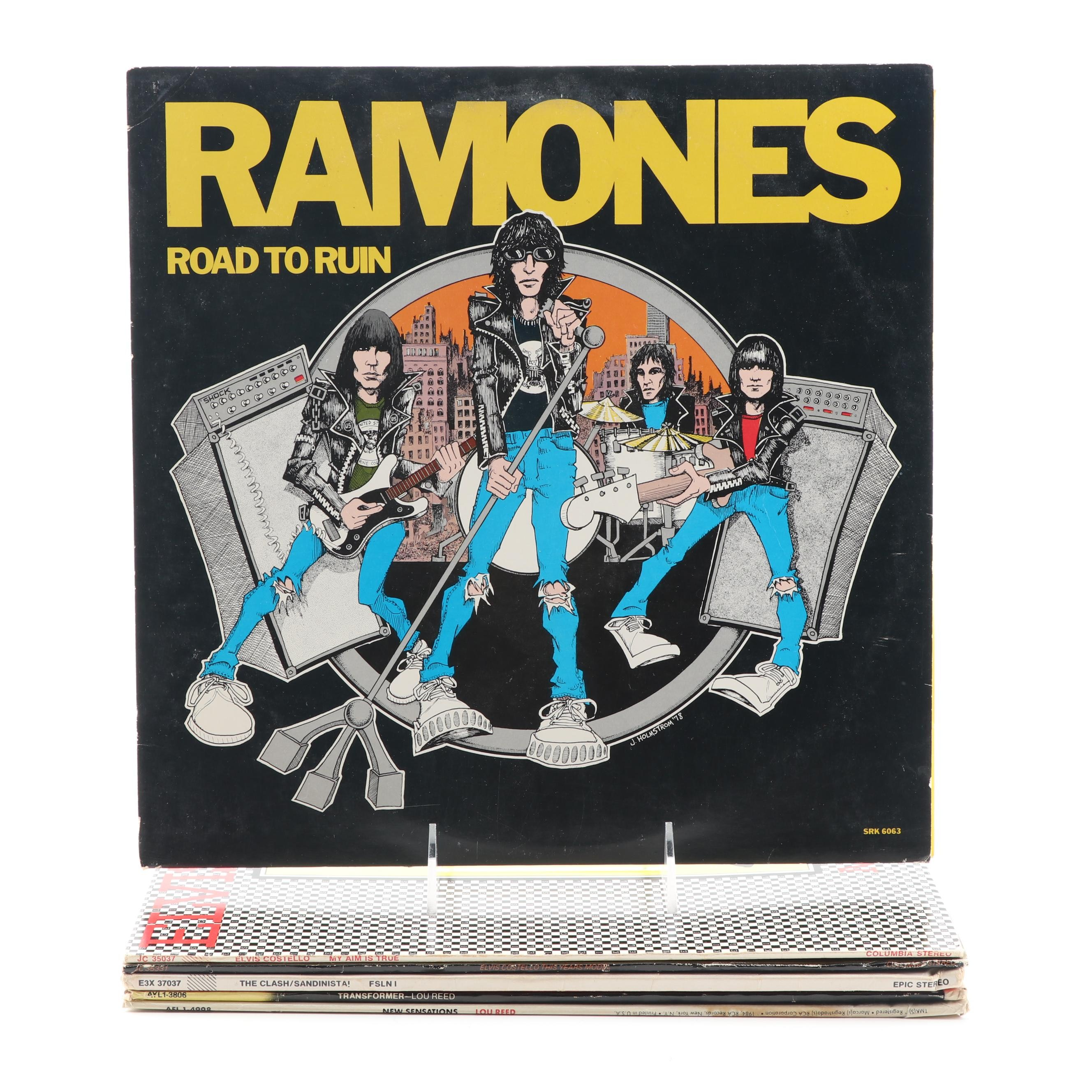 Ramones, Elvis Costello, Clash, and Lou Reed Records