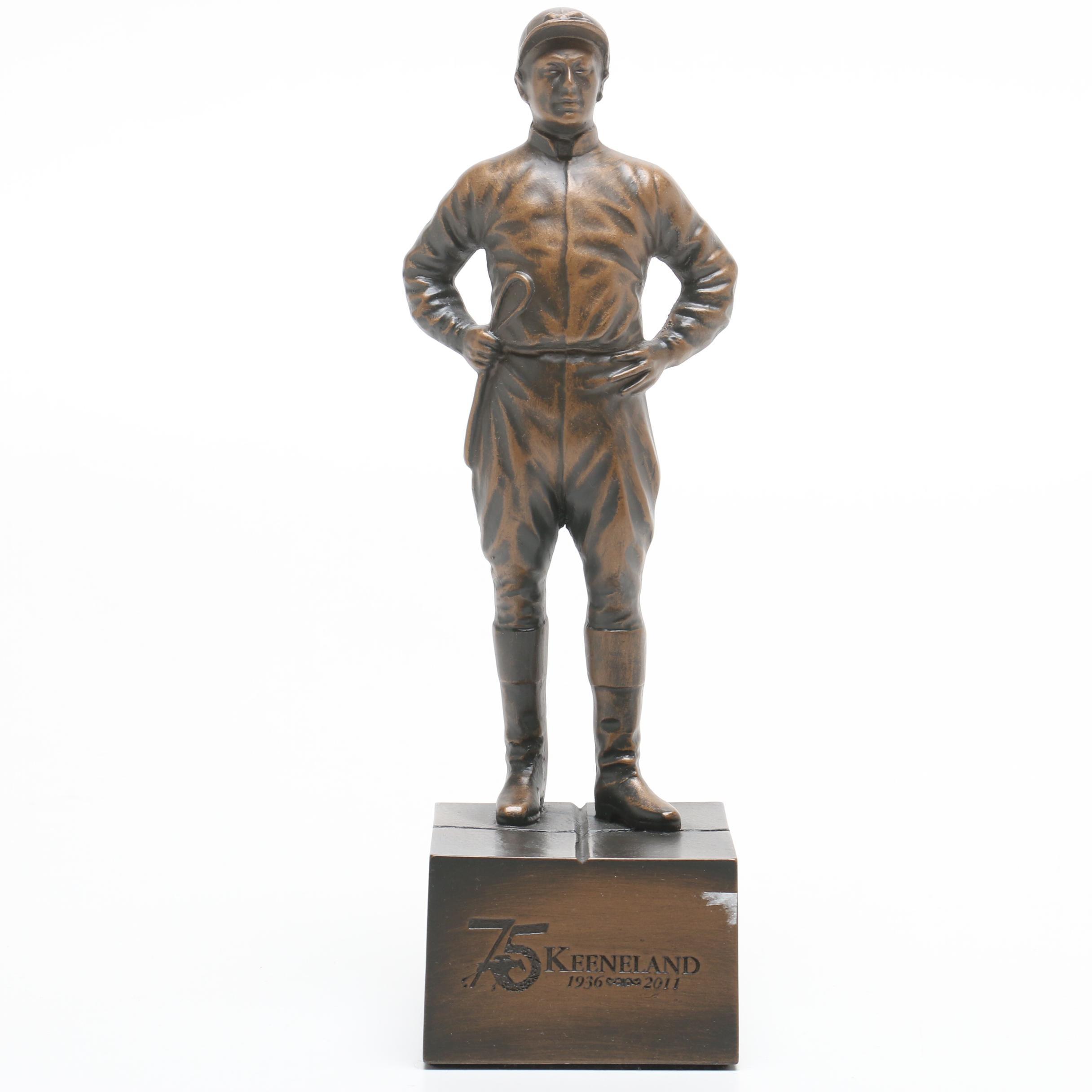 "Commemorative 2011 ""75th Anniversary"" Keeneland Race Track Jockey Statue"