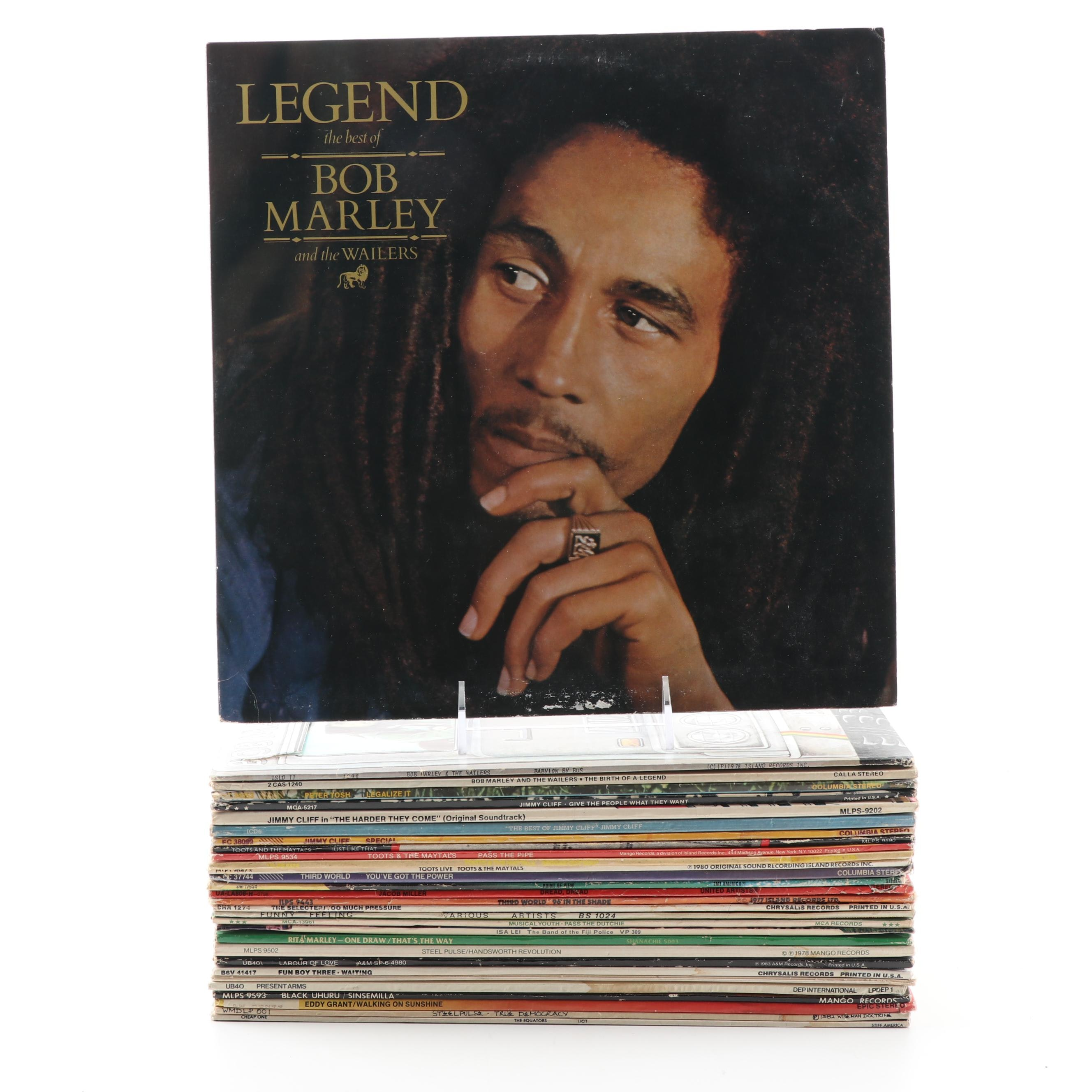 Reggae Records featuring Bob Marley, Jimmy Cliff, Toots & the Mayals, Peter Tosh