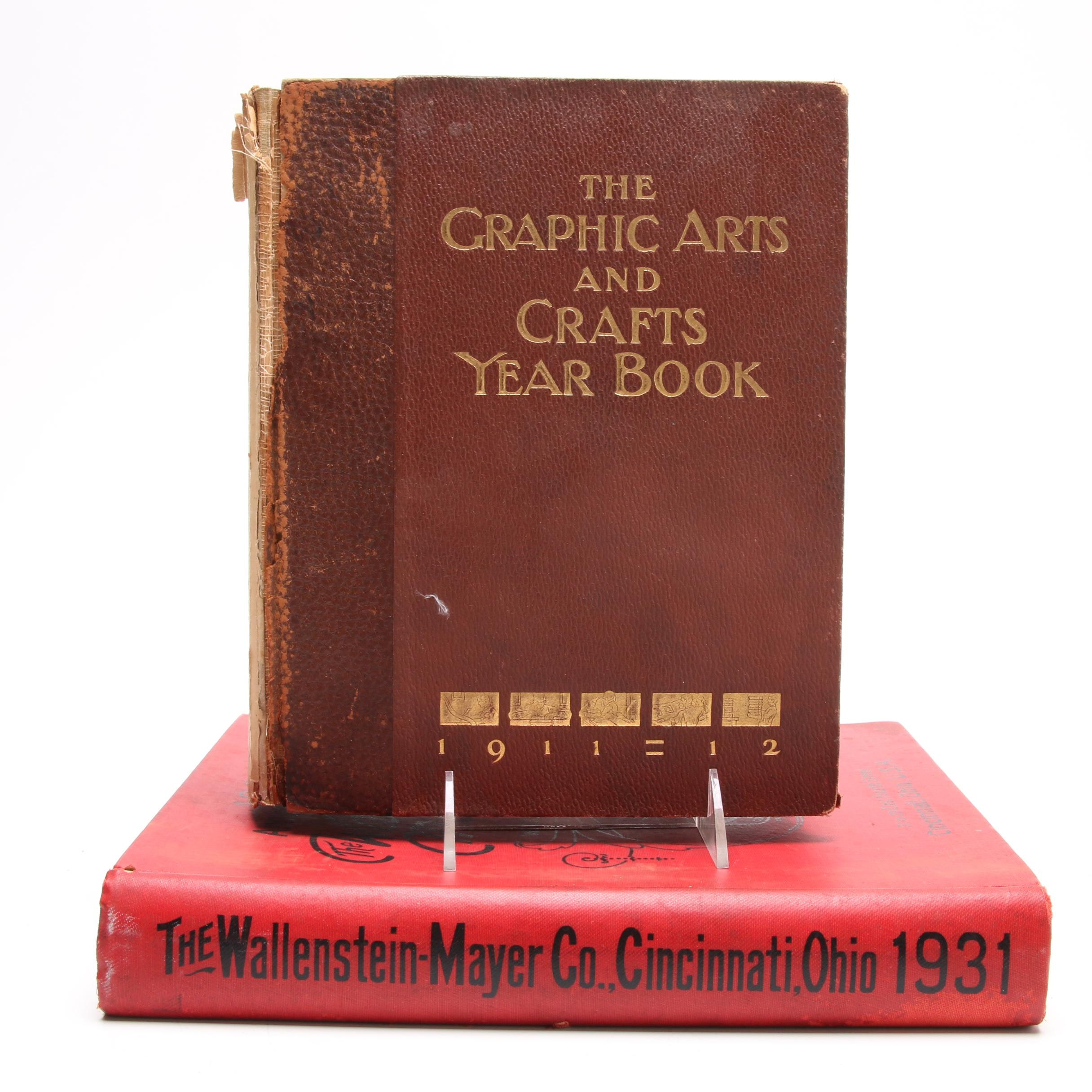 "1911-12 ""The Graphic Arts and Crafts Year Book"" and ""Wallenstein Mayer"" Catalog"