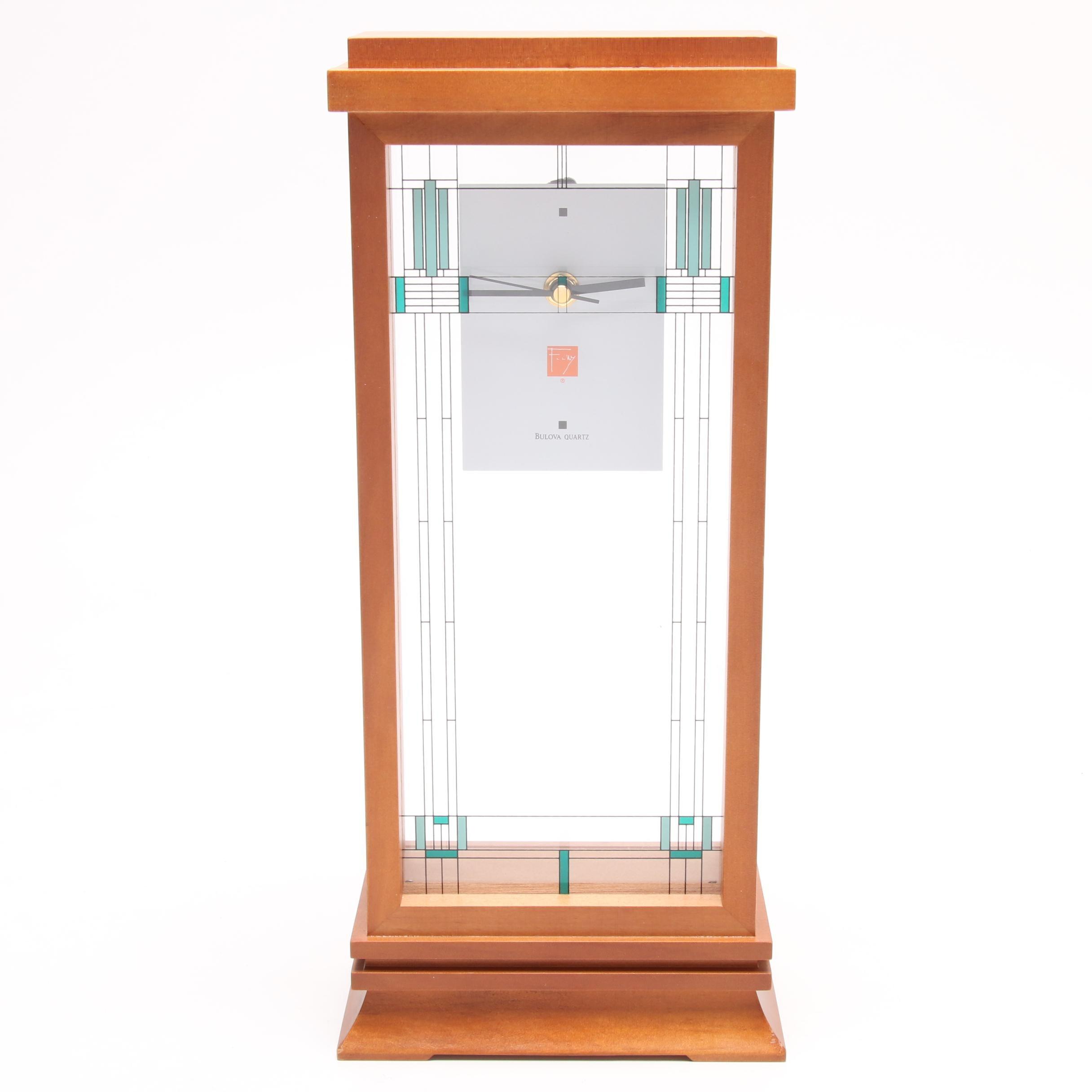 Bulova Quartz Frank Lloyd Wright Collection Mantel Clock (Converted)