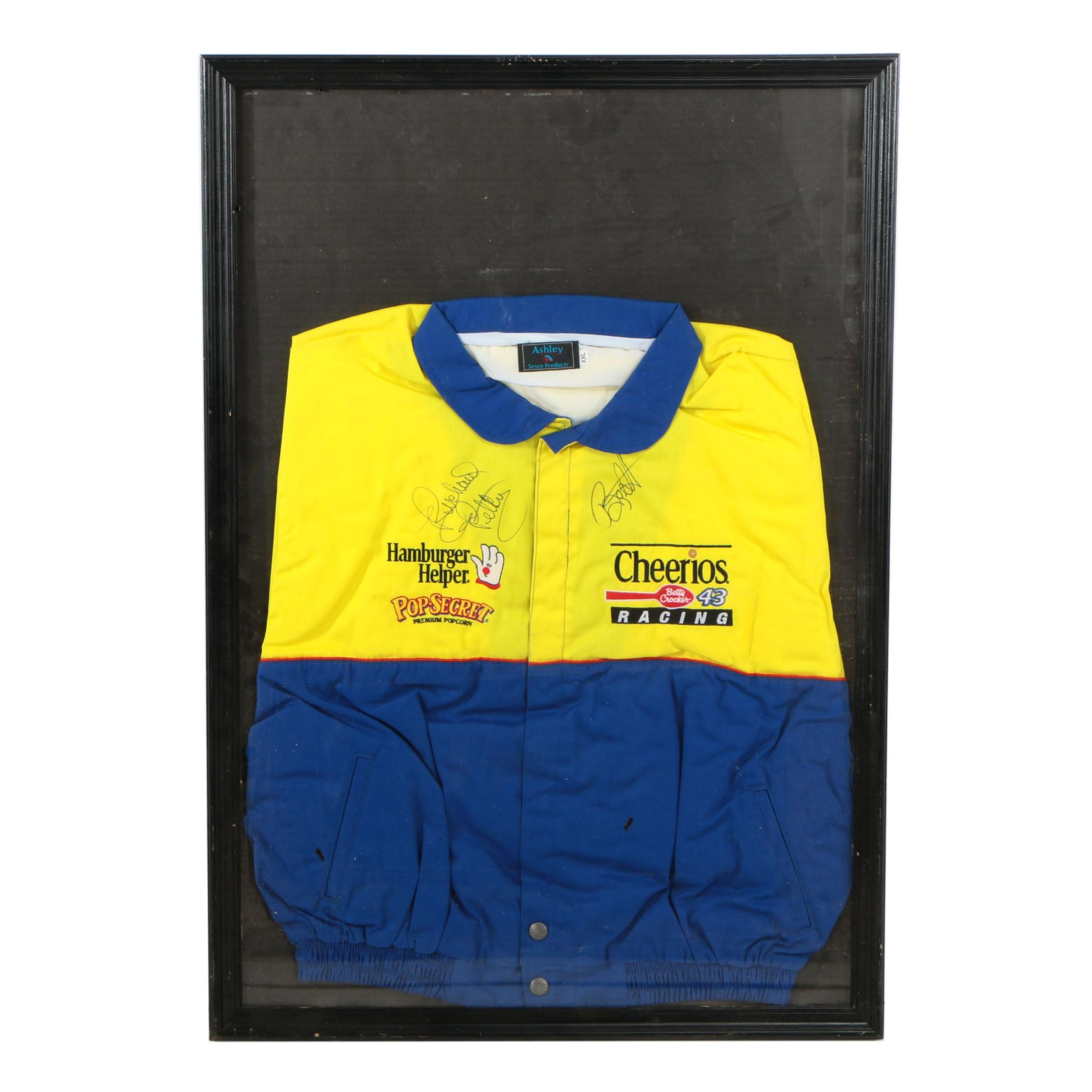 Framed Richard Petty and Bobby Labonte Autographed NASCAR #43 Racing Jacket