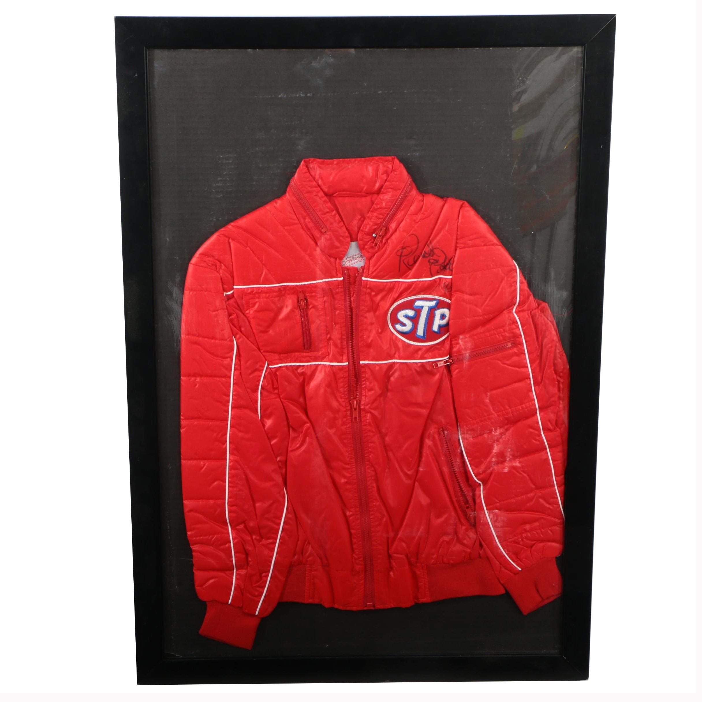 Framed Richard Petty Autographed STP Racing Jacket