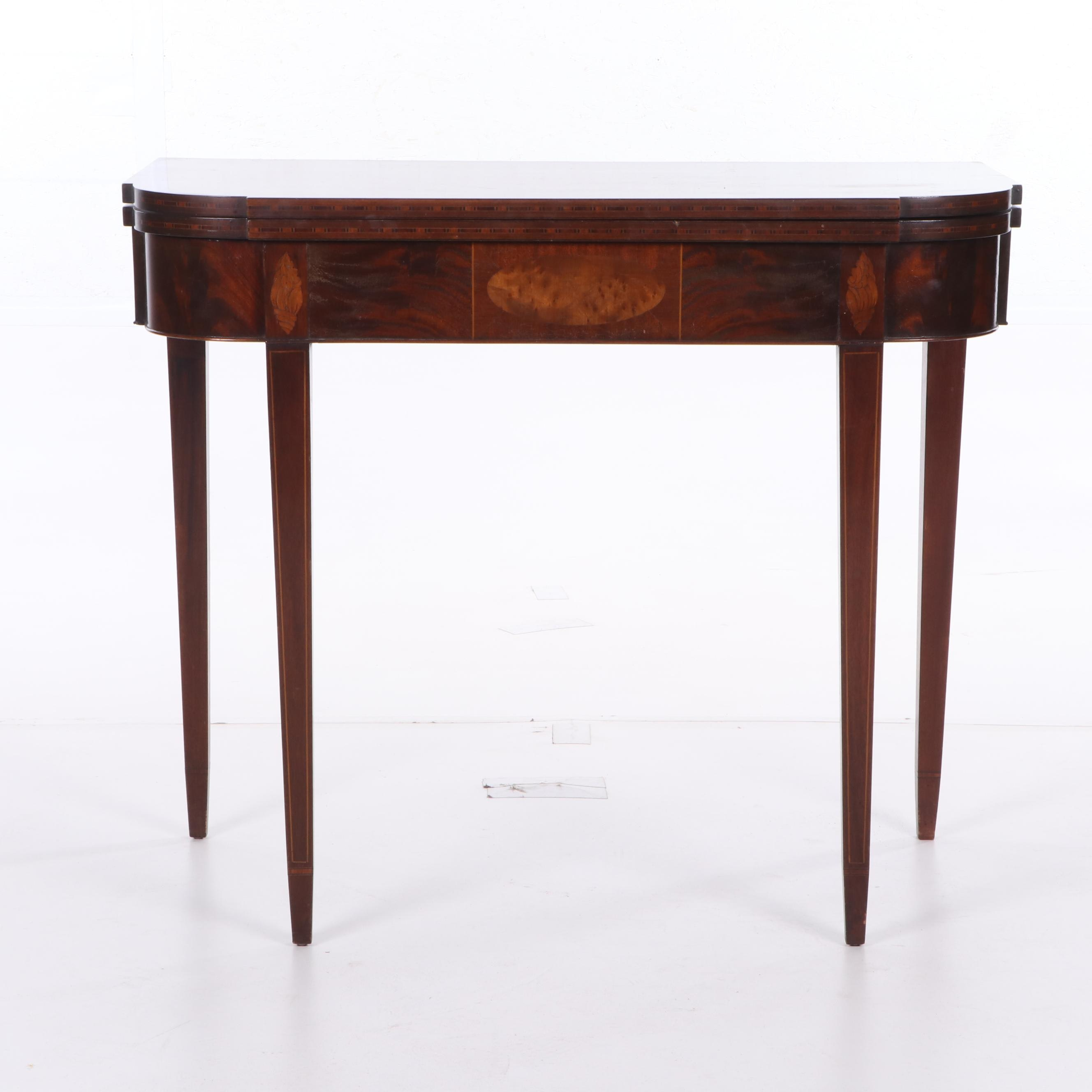 Federal Style Mahogany Flip-Top Game Table, Early 20th Century