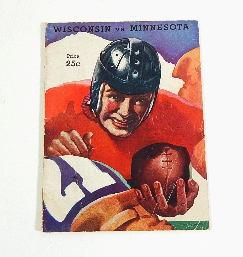 1936 Wisconsin vs Minnesota NCAA Football Program