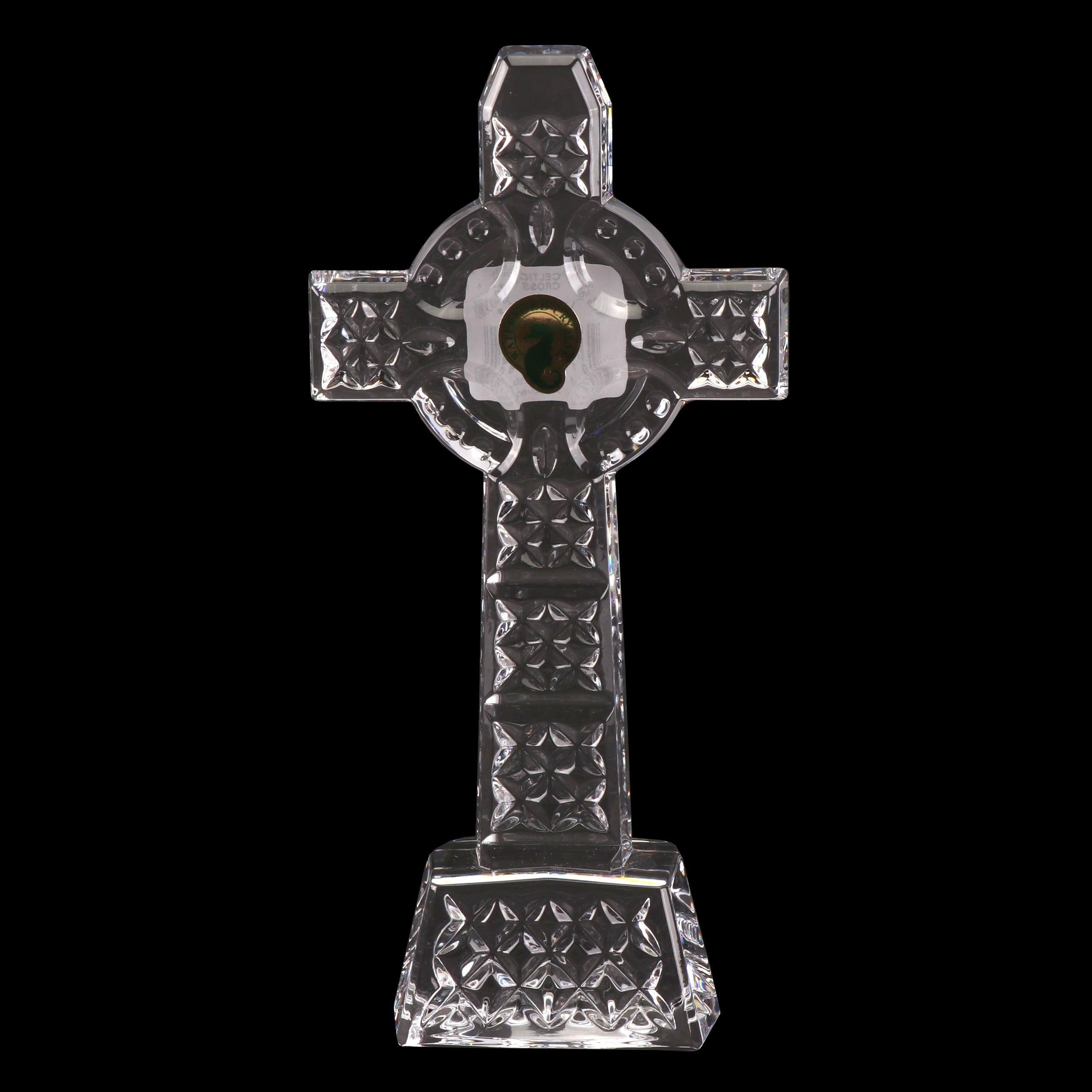 Waterford Crystal Celtic Cross Figurine