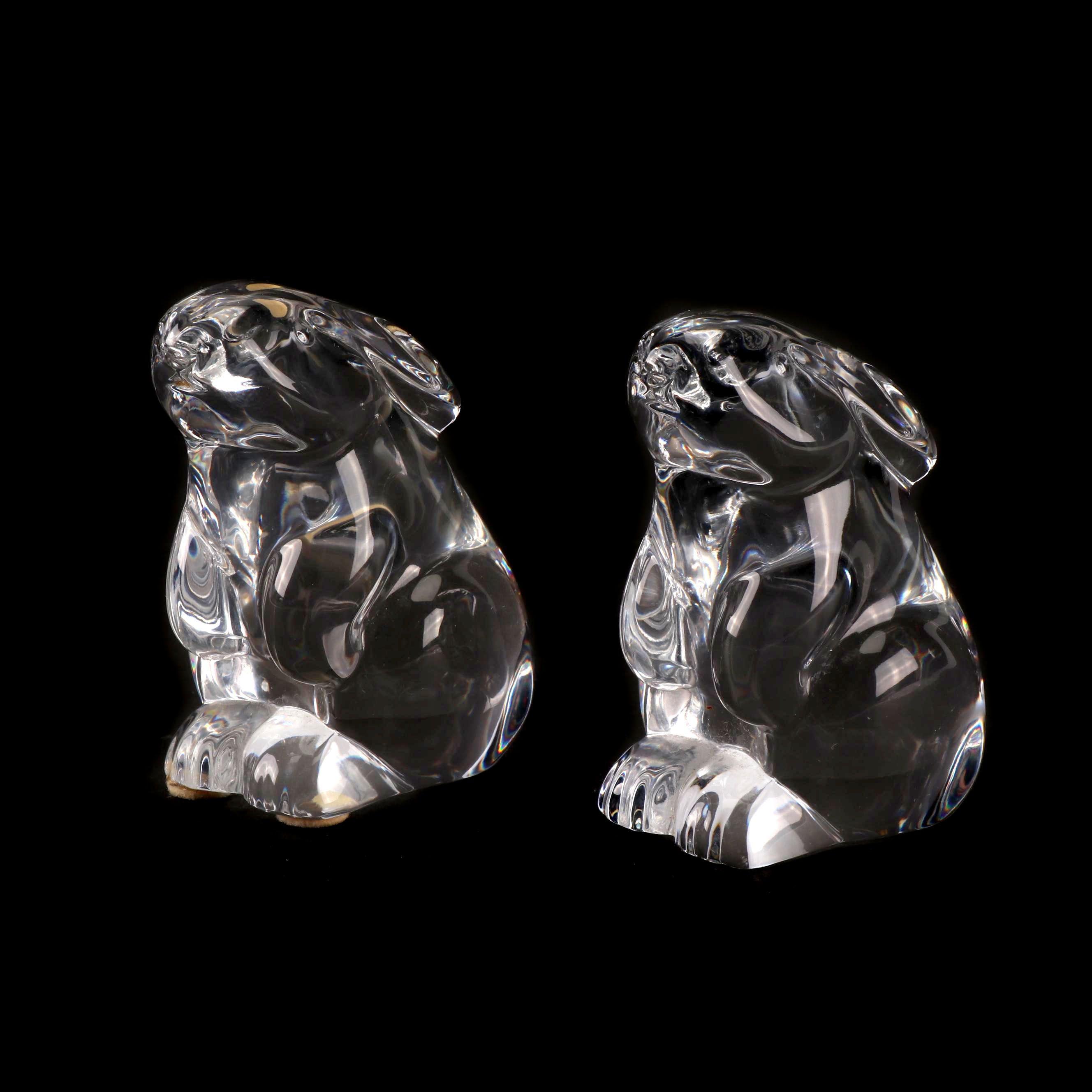 "Baccarat ""Sitting Rabbit"" Crystal Figurines"