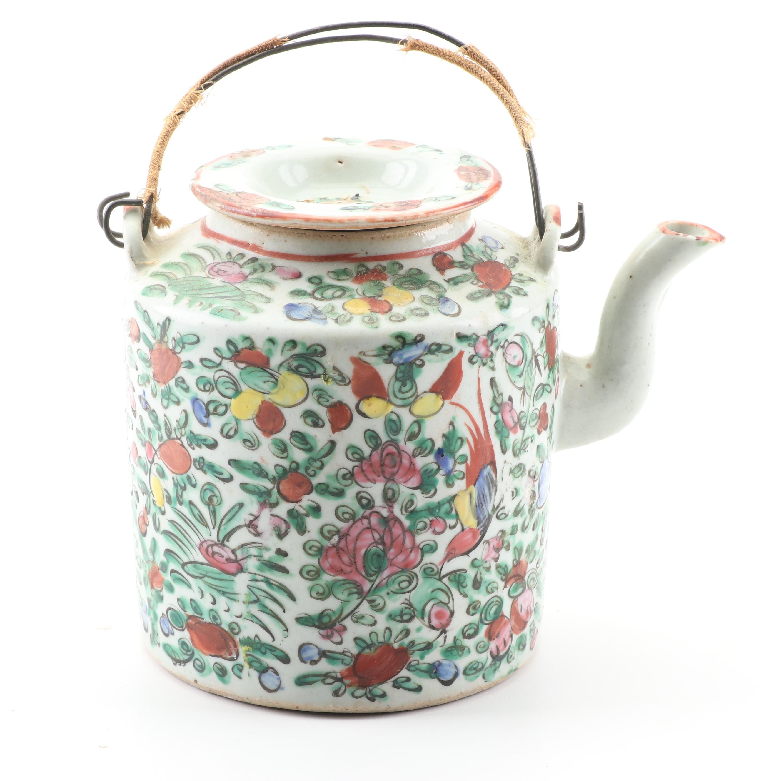 Chinese Ceramic Teapot, Late Qing Dynasty