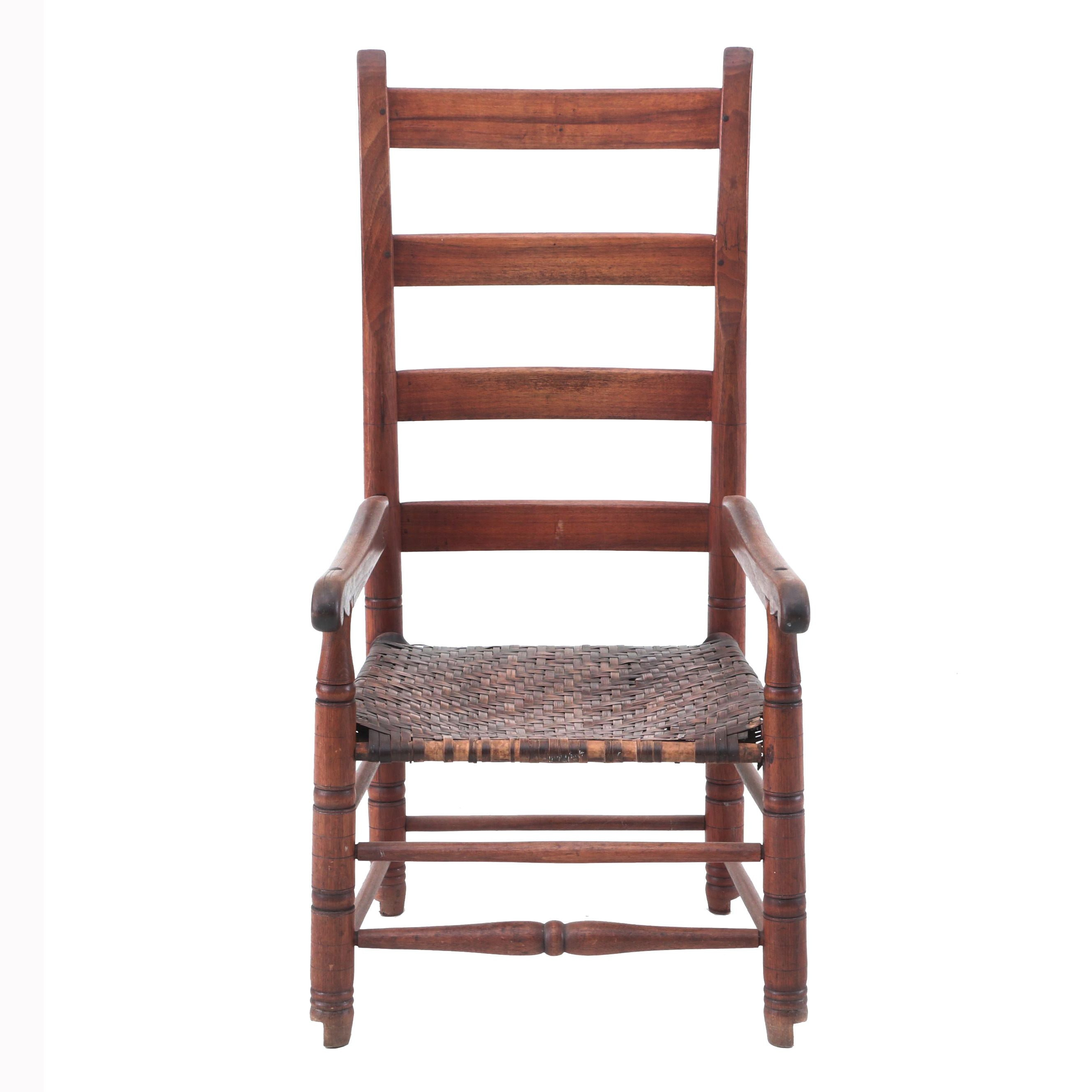 19th Century Ladder-Back Chair