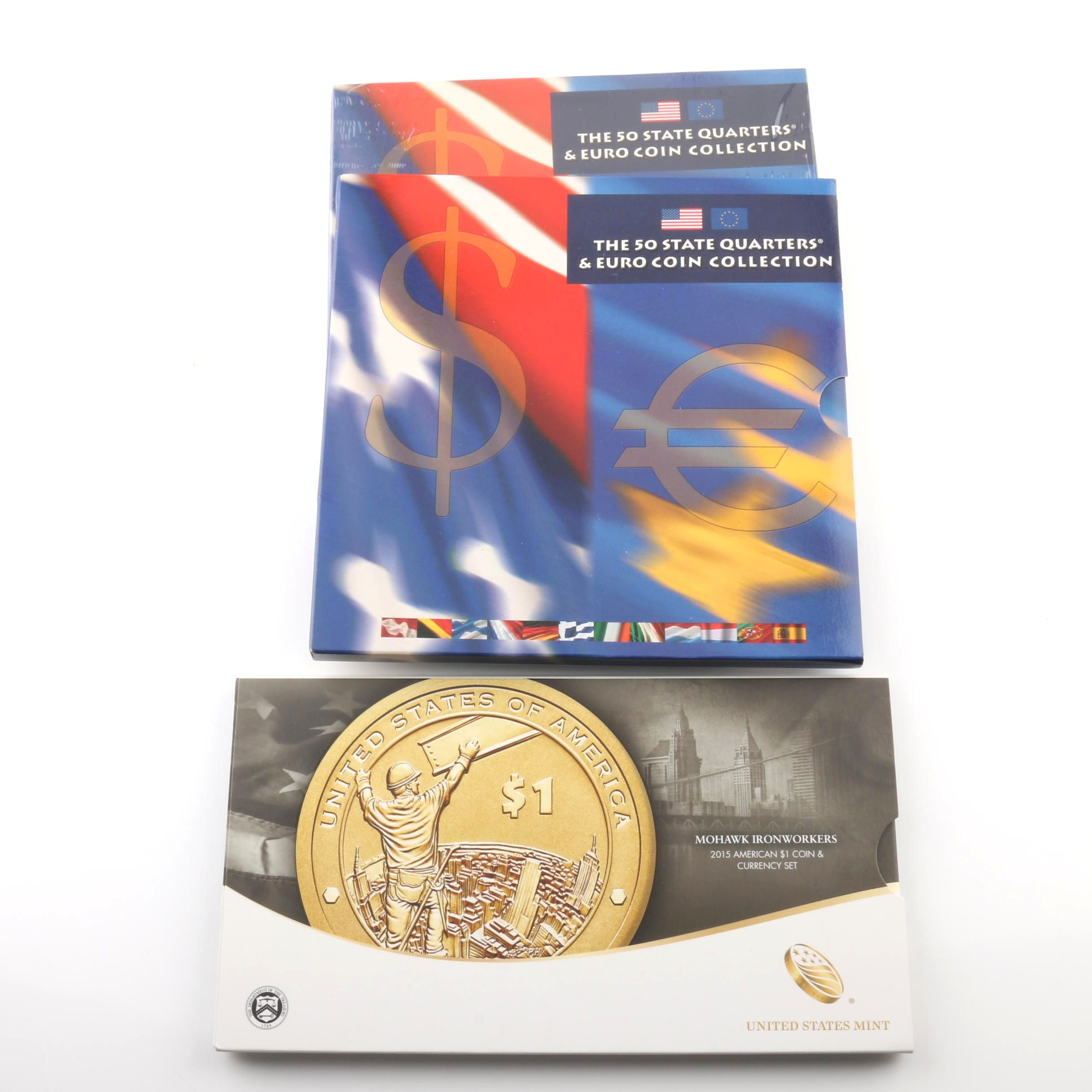 Group of Three Coin and Currency Sets