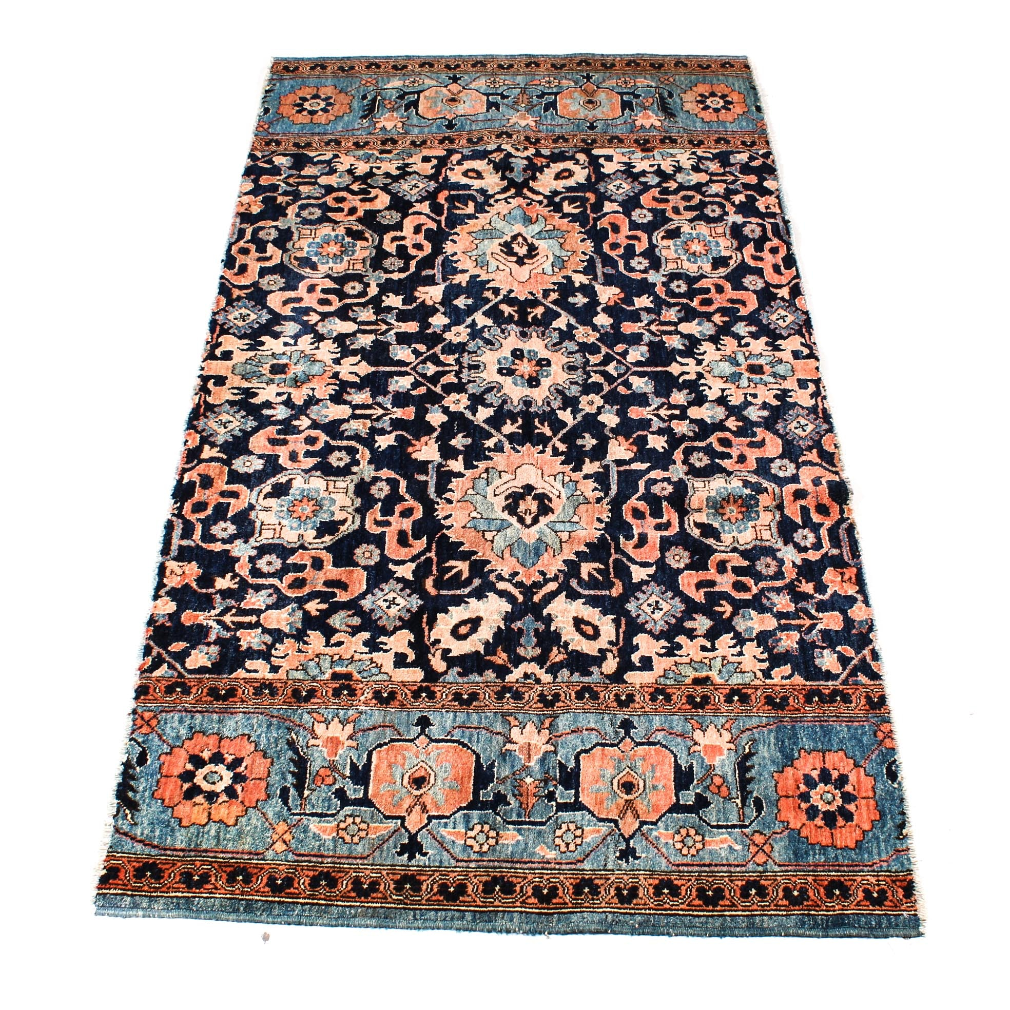 Semi-Antique Turkish Azari Wool Rug