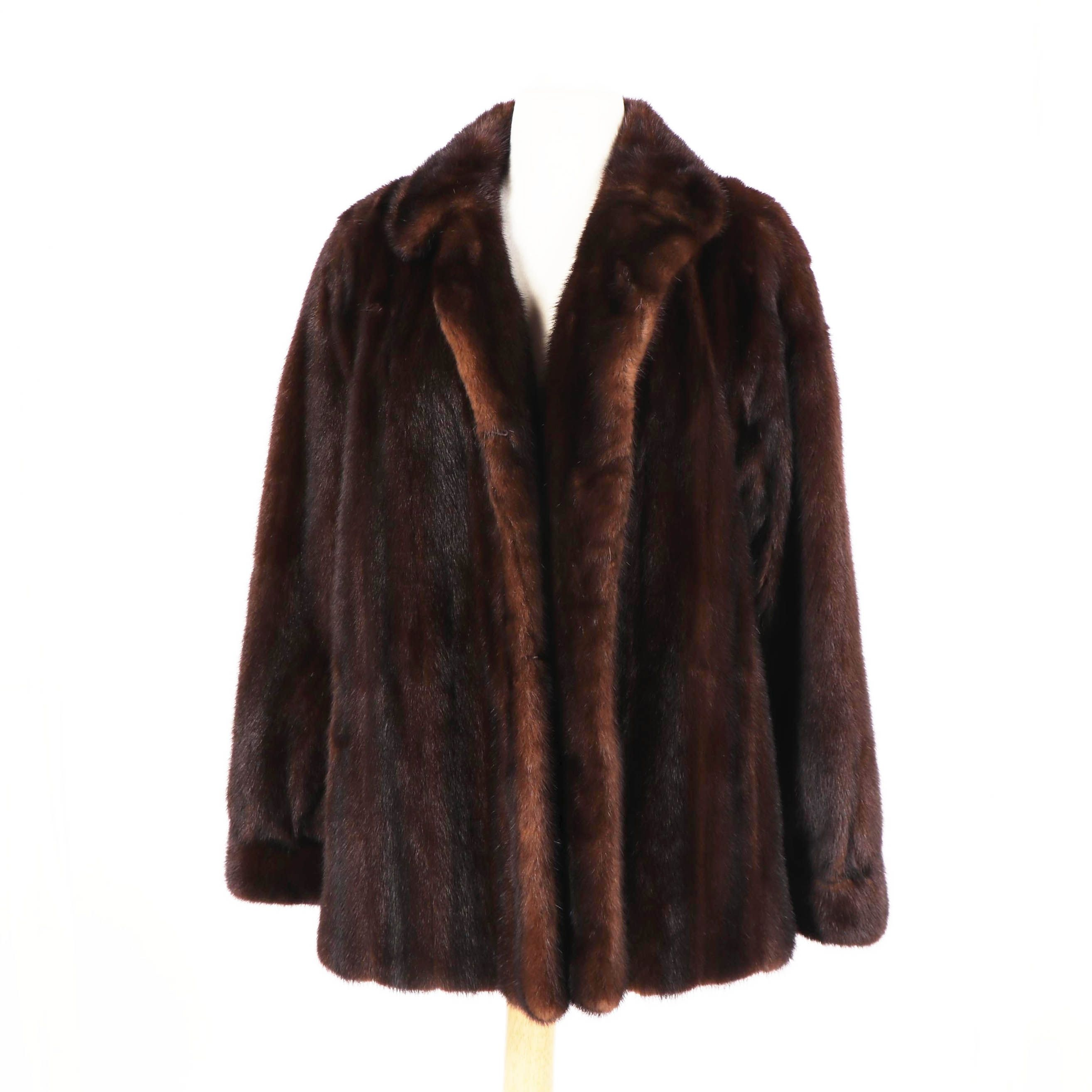 Women's Koslow's Mahogany Mink Fur Jacket