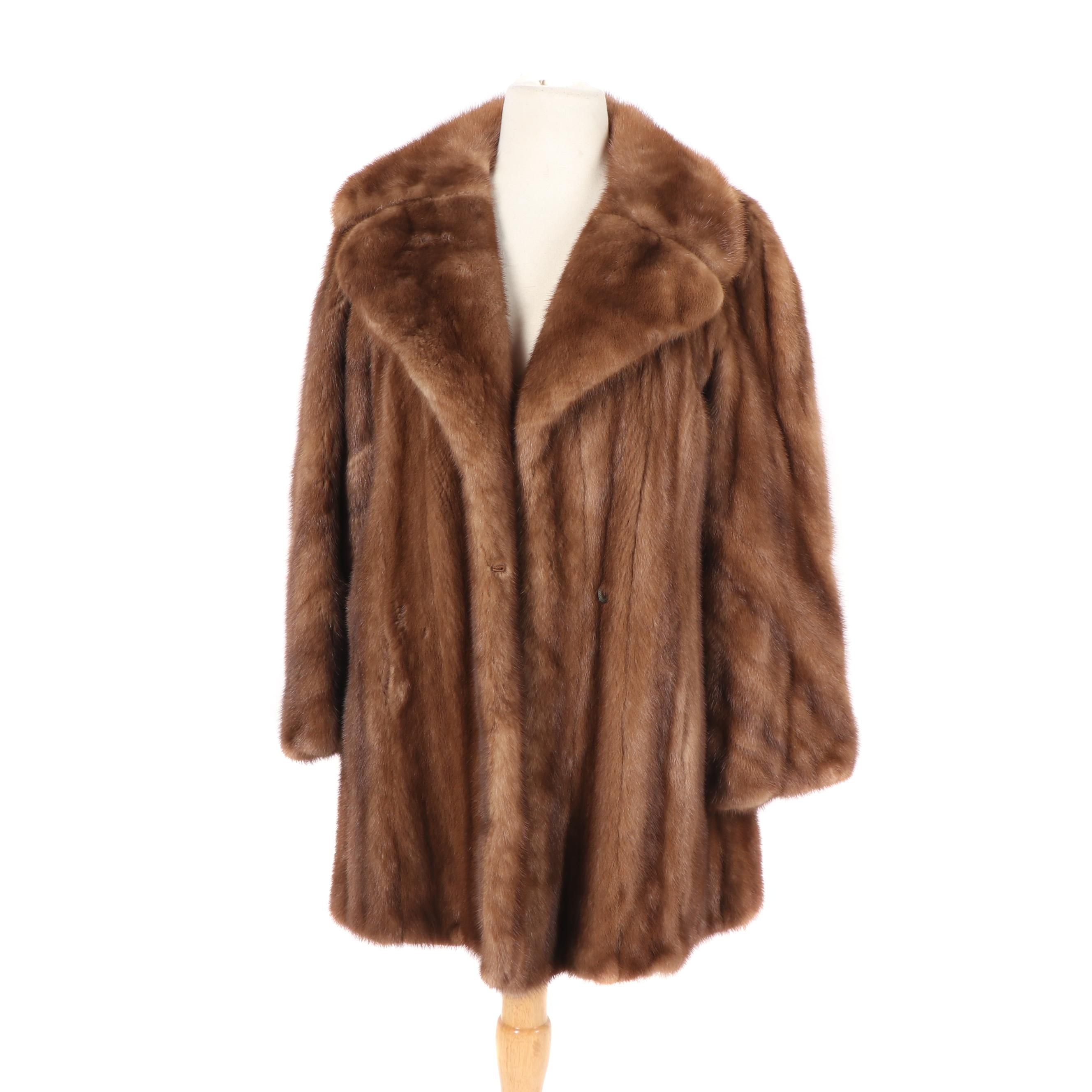 Women's Koslow's Demi-Buff Mink Fur Jacket