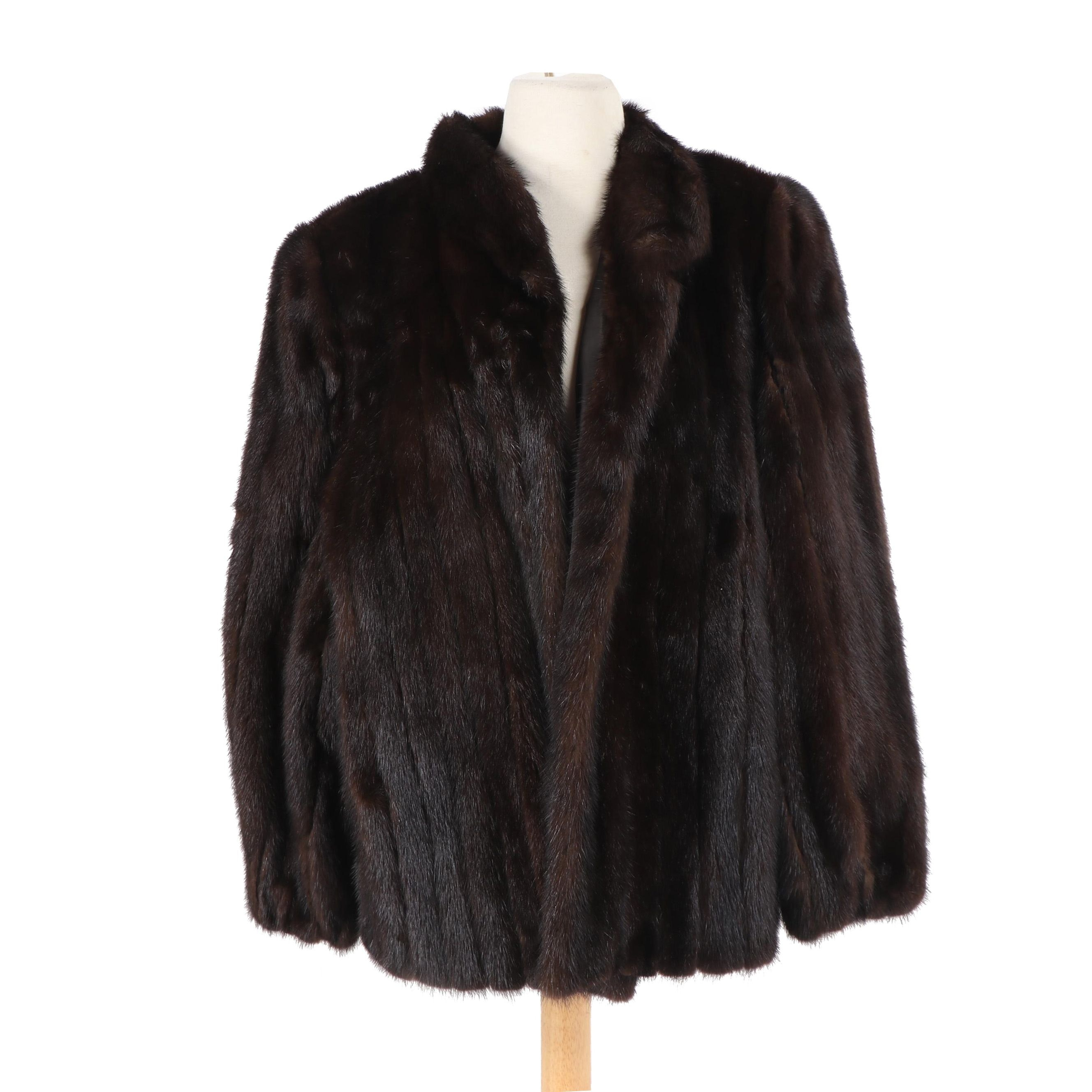 Women's Avanti Dark Mahogany Mink Fur Jacket