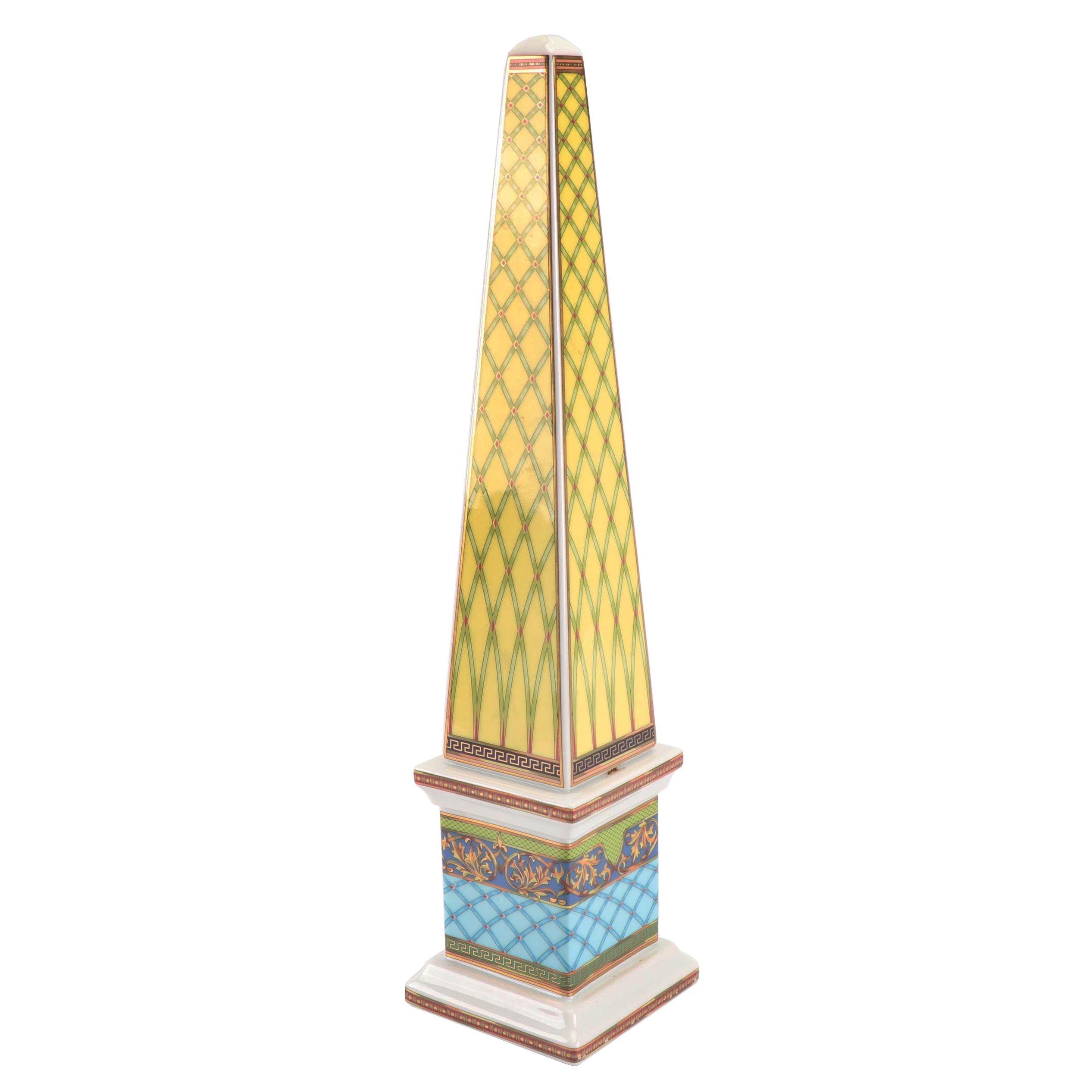 """Versace for Rosenthal """"Russian Dream"""" Porcelain Obelisk"""