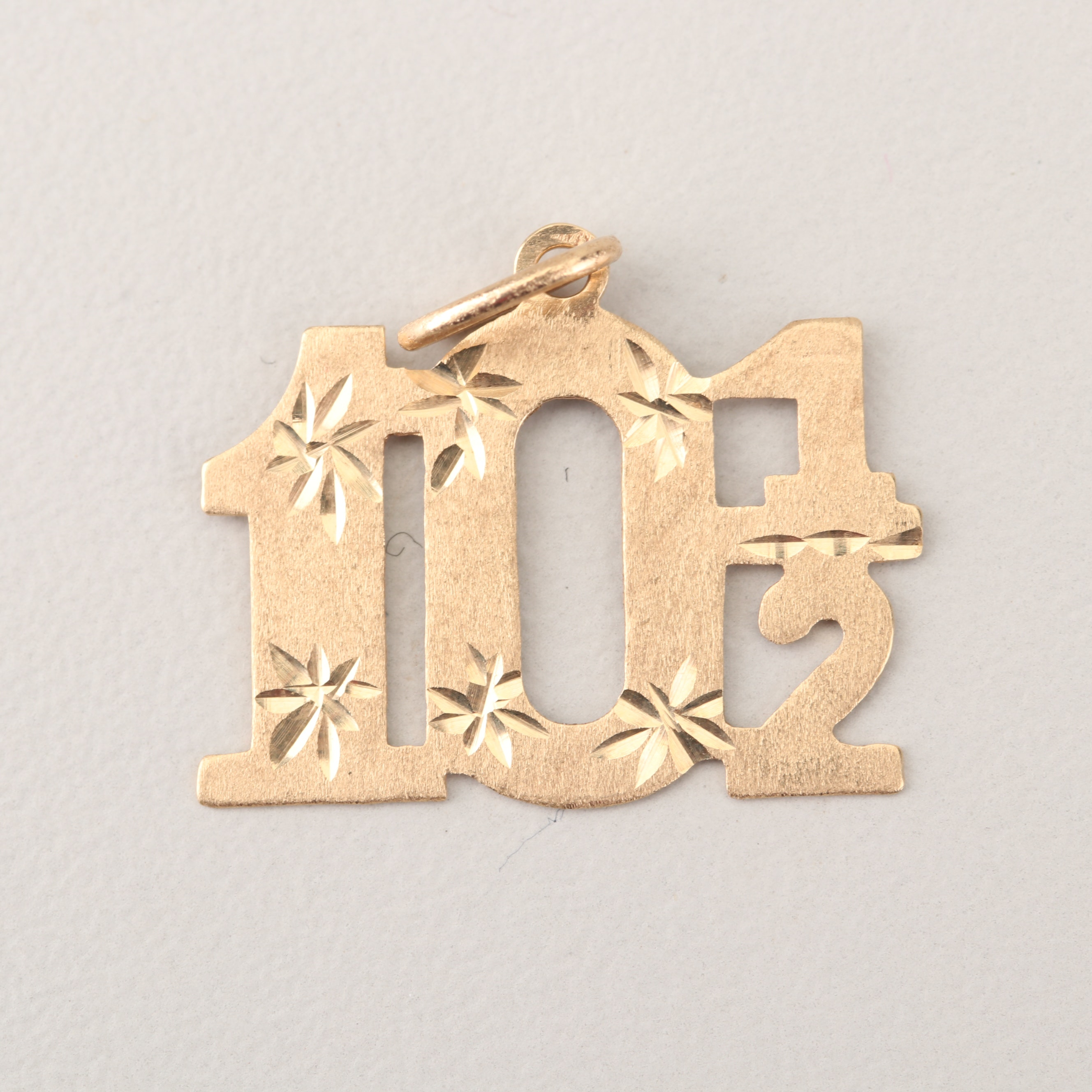 "14K Yellow Gold ""101/2"" Charm"