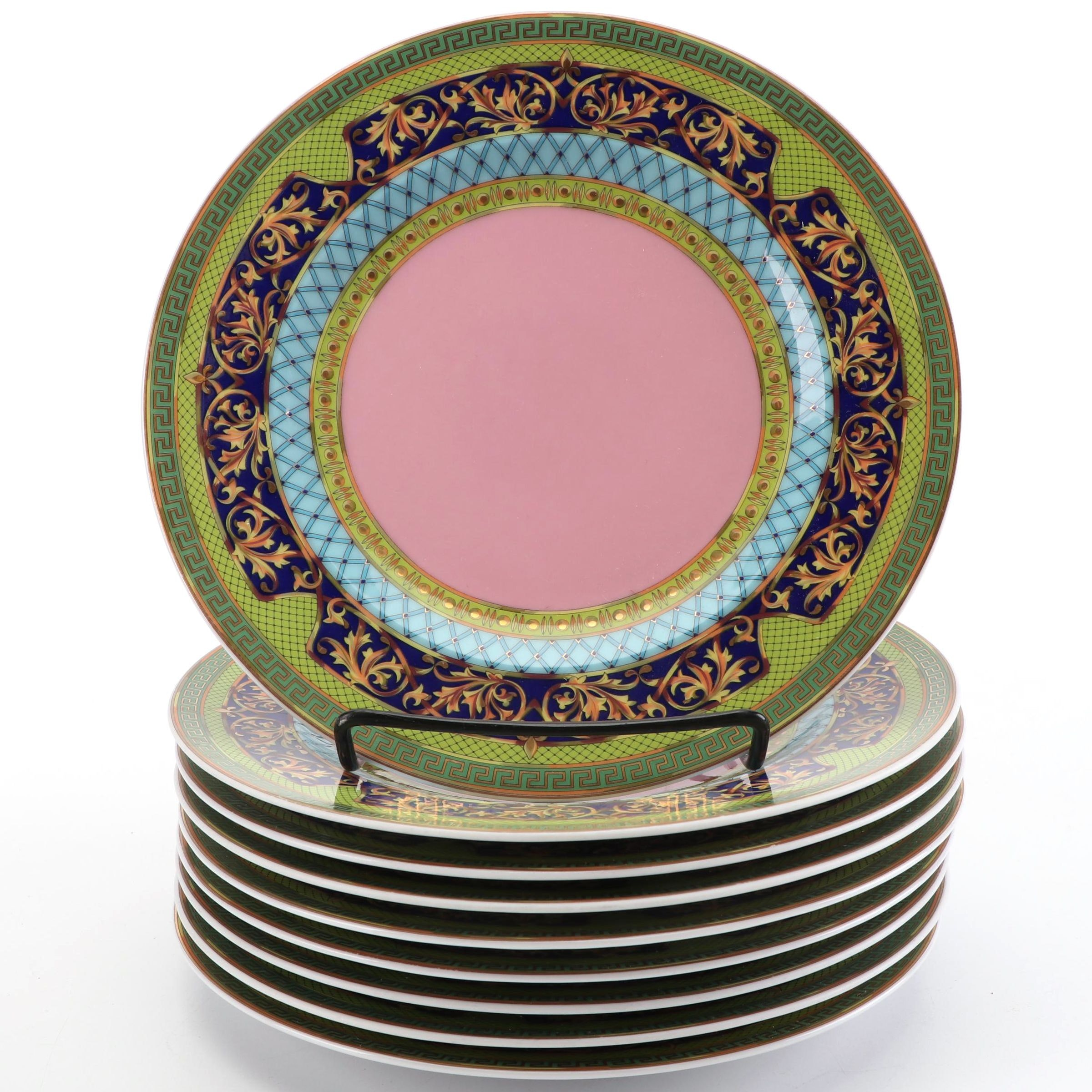 """Versace for Rosenthal """"Russian Dream"""" Porcelain Bread and Butter Plates"""