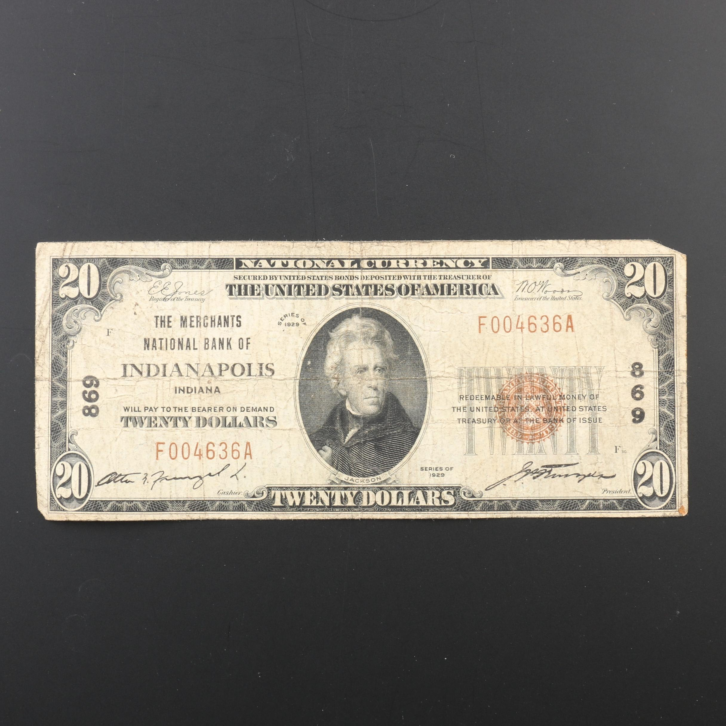 Series of 1929 $20 National Currency Note