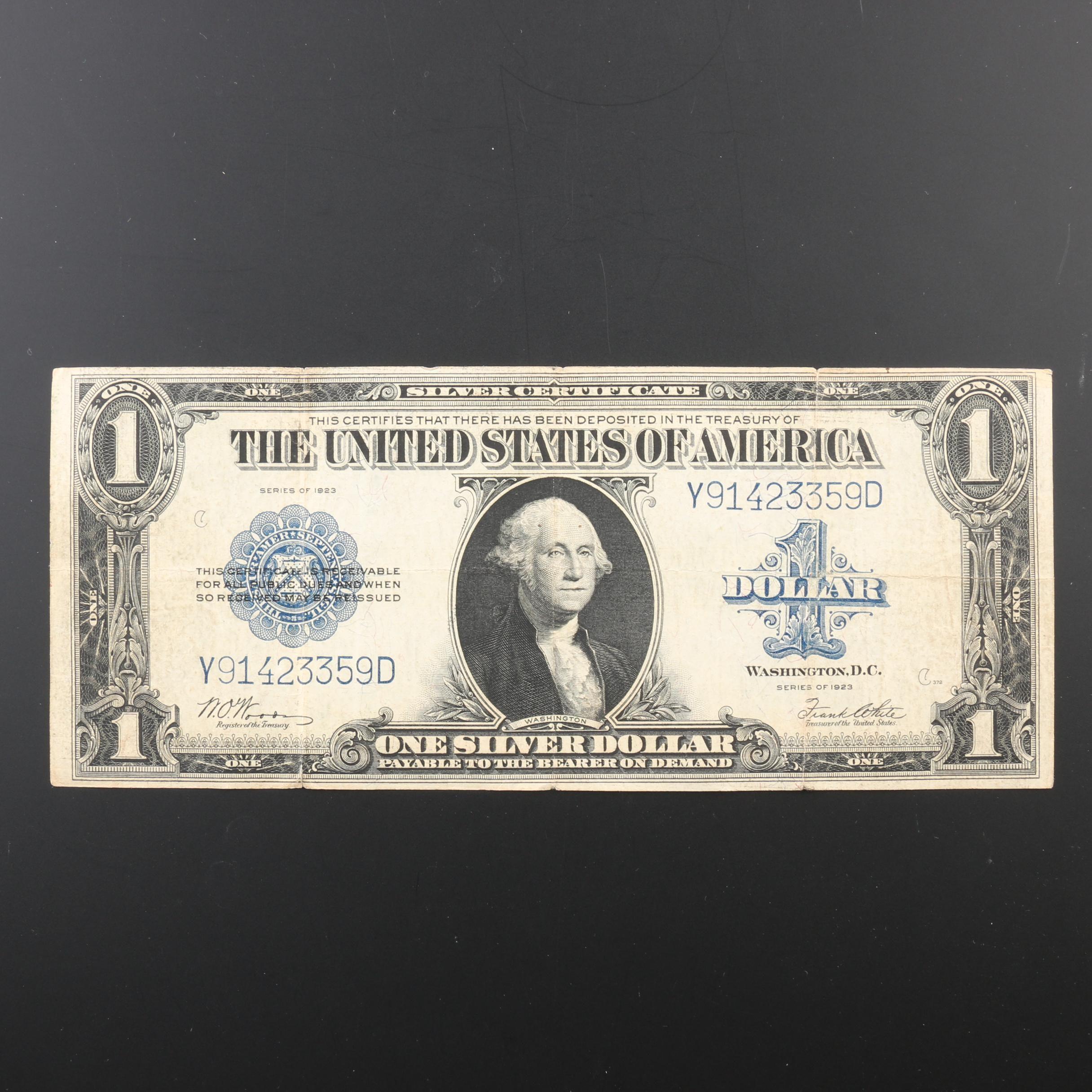 Series of 1923 U.S. $1 Silver Certificate
