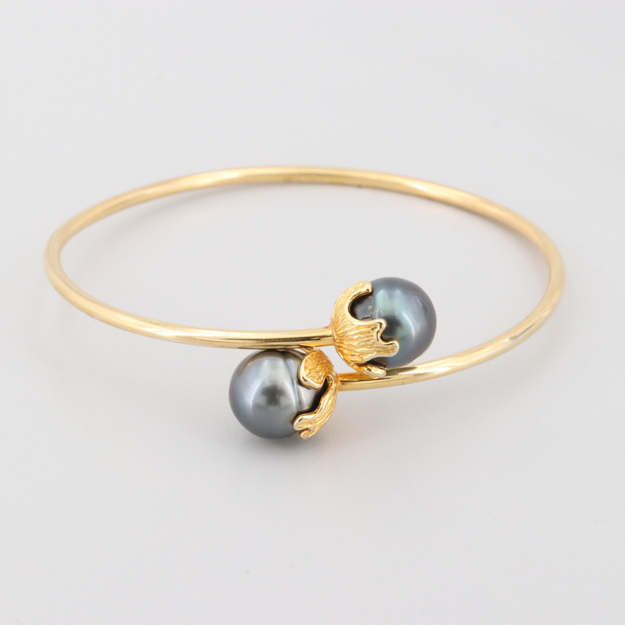 Gold Wash on Sterling Silver Cultured Pearl Bracelet