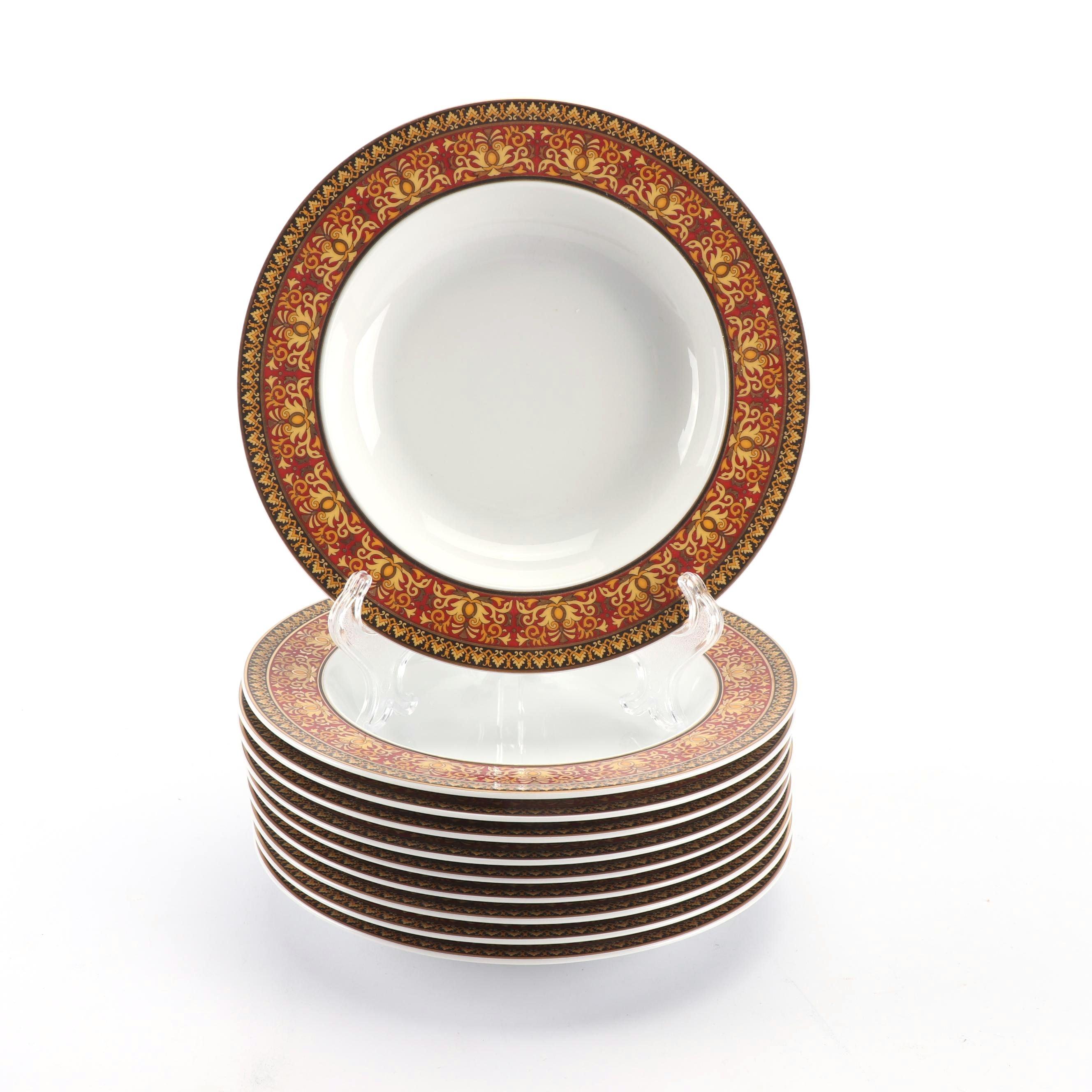 """Versace for Rosenthal """"Medusa Red"""" Porcelain Salad Bowls"""