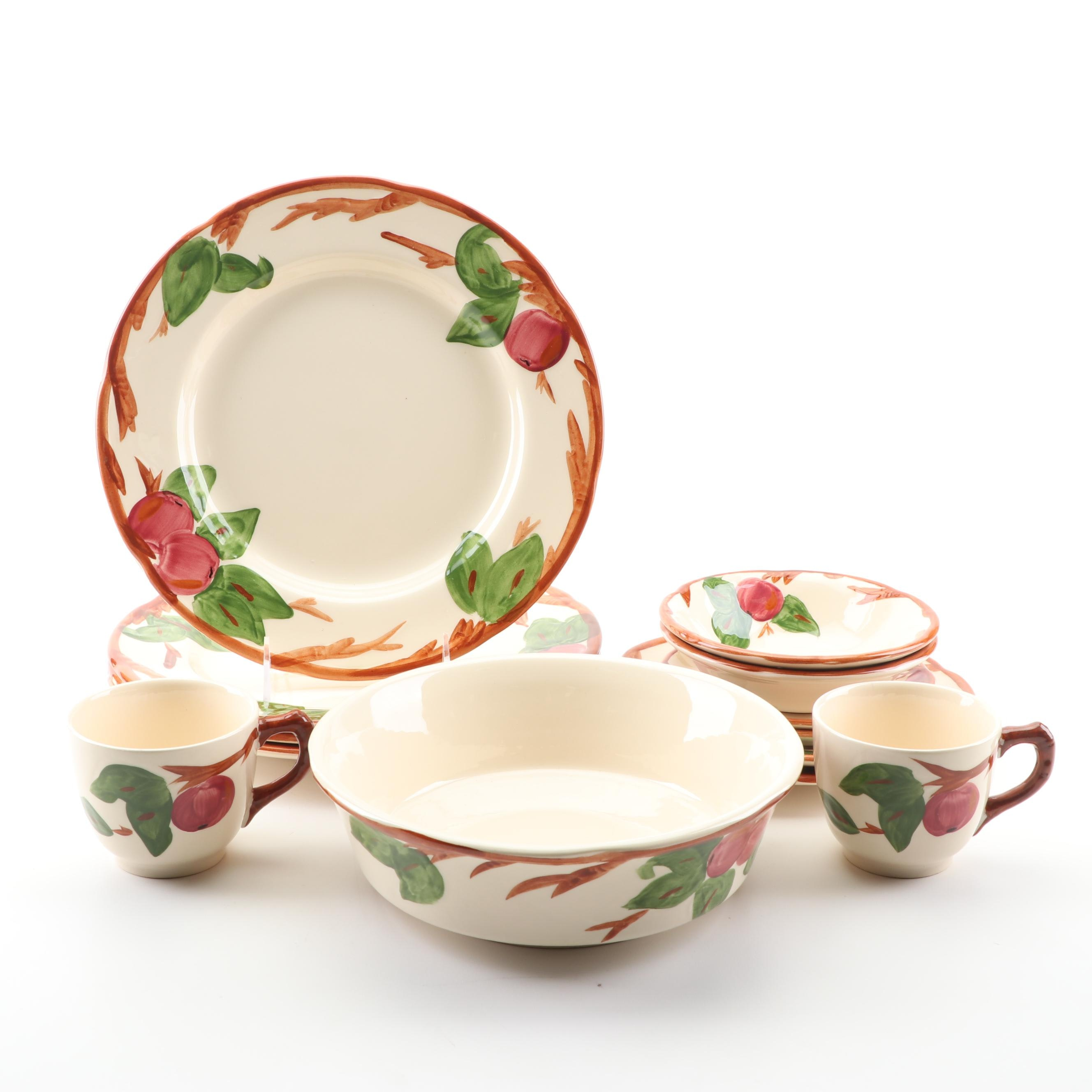 "Franciscan ""Apple"" Earthenware Dinnerware"