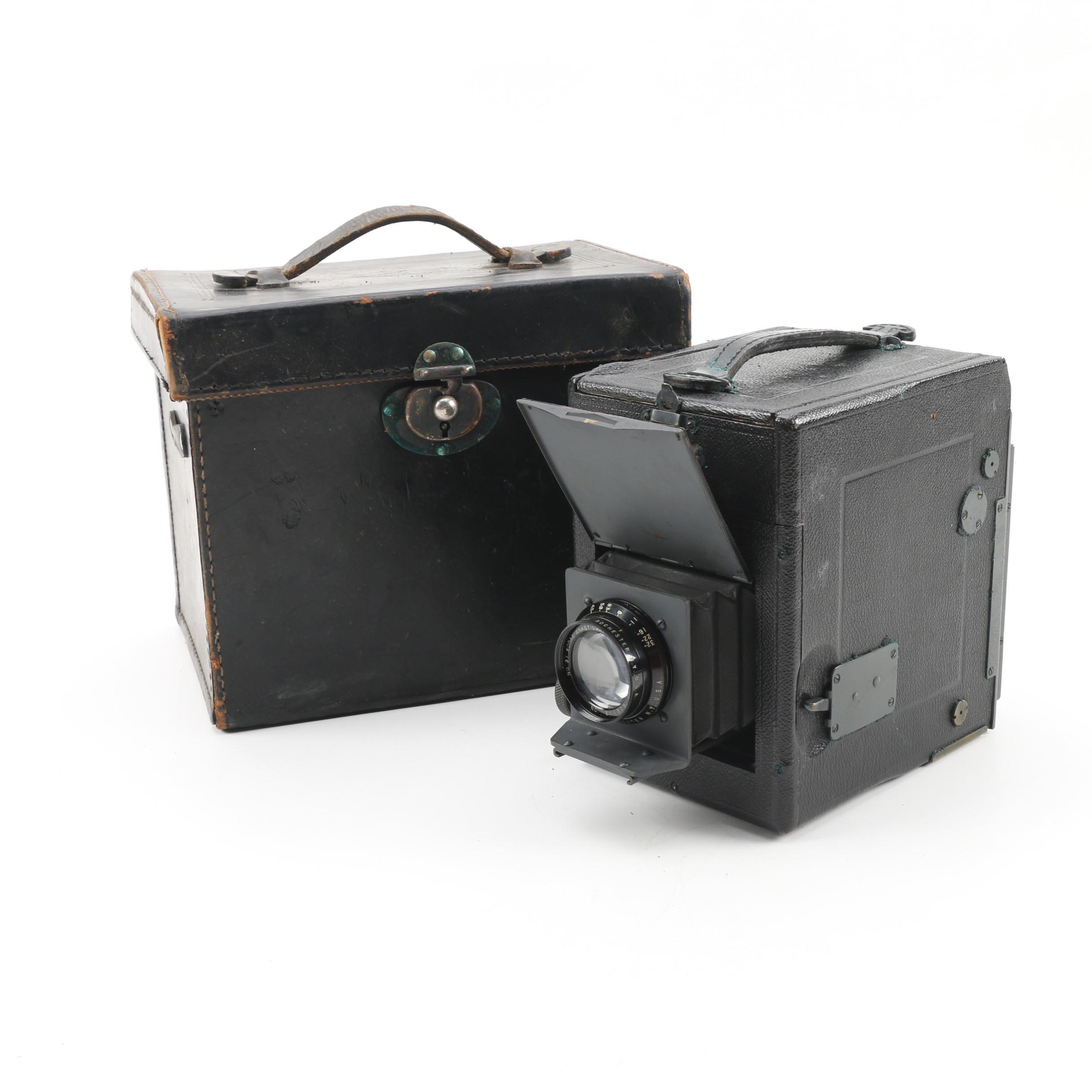 R. B. Graflex Series B Camera with Case, Early- to Mid 20th Century