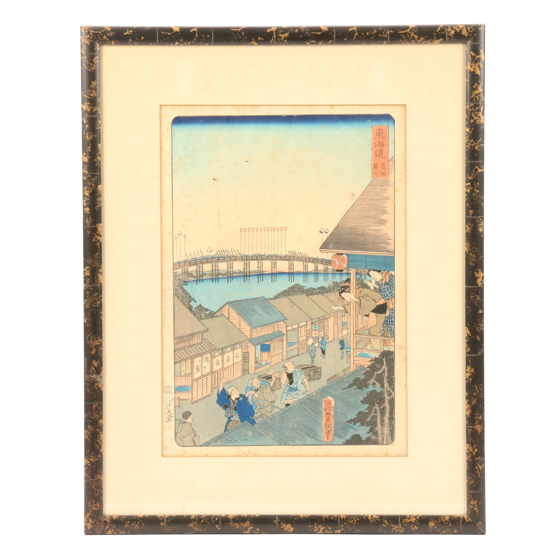"""Woodblock Print after Utagawa Kunisada """"Yoshida, No. 2"""""""