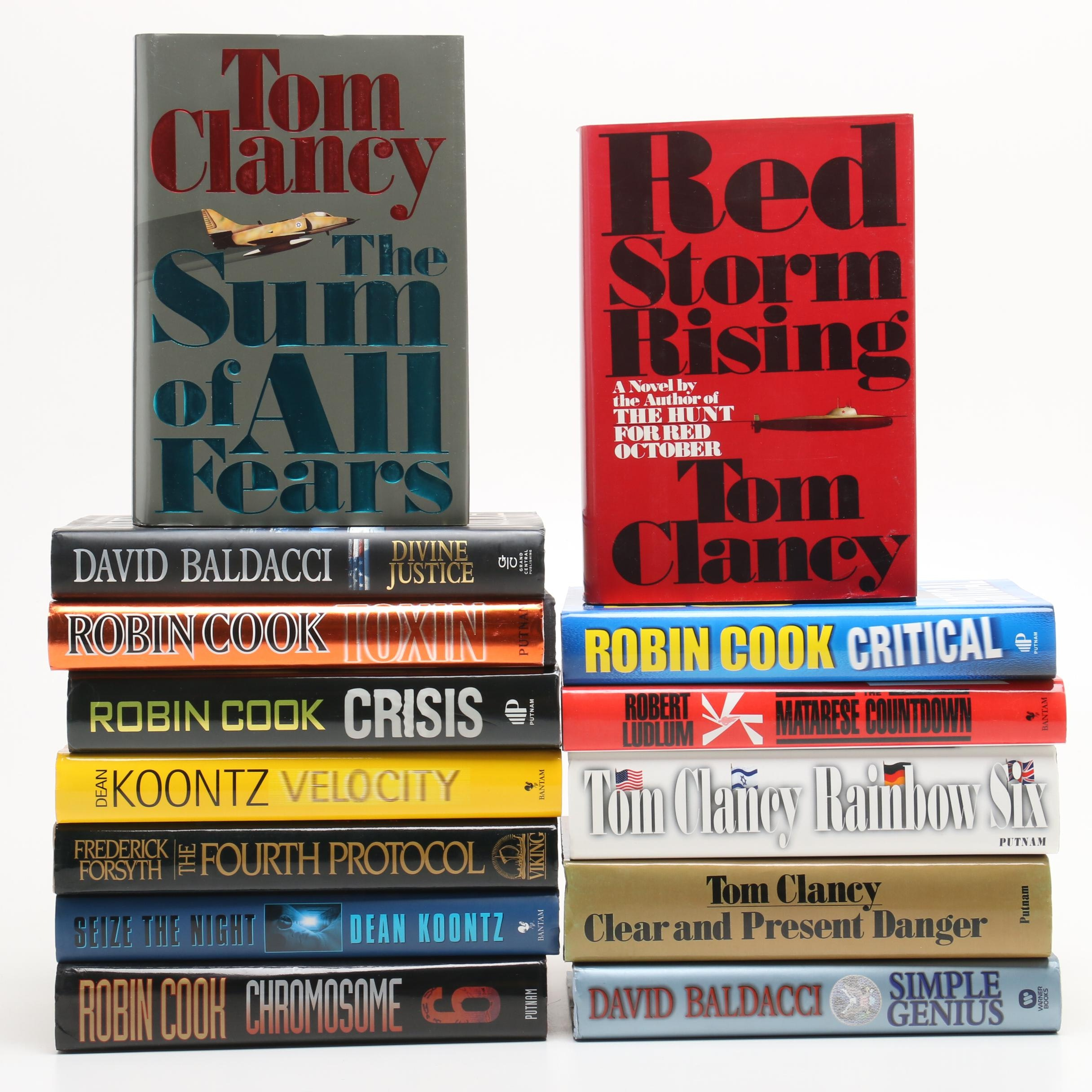 Thriller Fiction including Cook, Ludlum, Baldacci, Clancy and Koontz