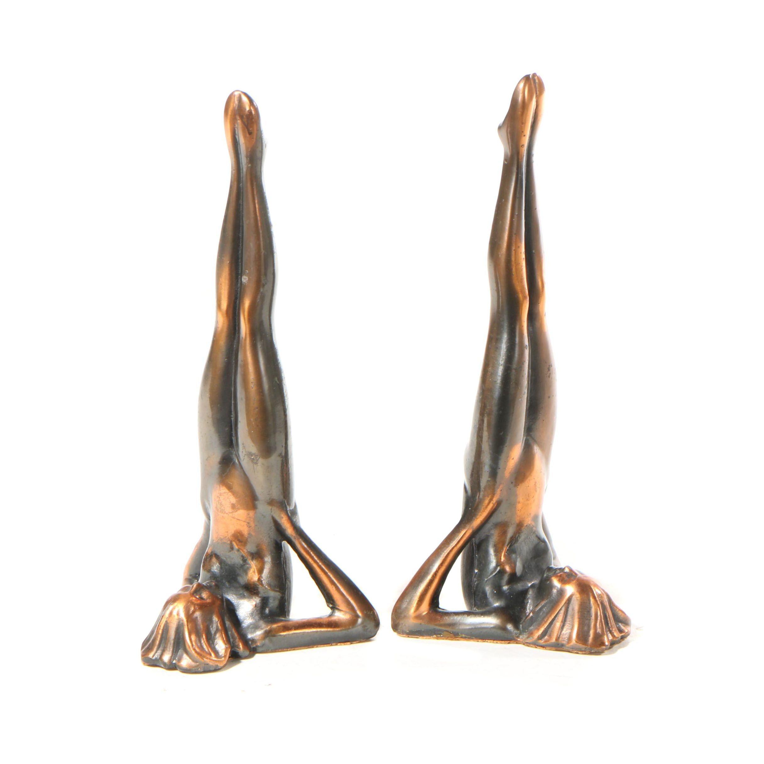 Cast Metal Art Deco Style Bookends