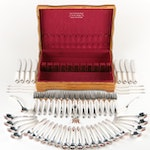 """Frank W. Smith """"Woodlily"""" Sterling Silver Flatware with Chest, Mid-Century"""