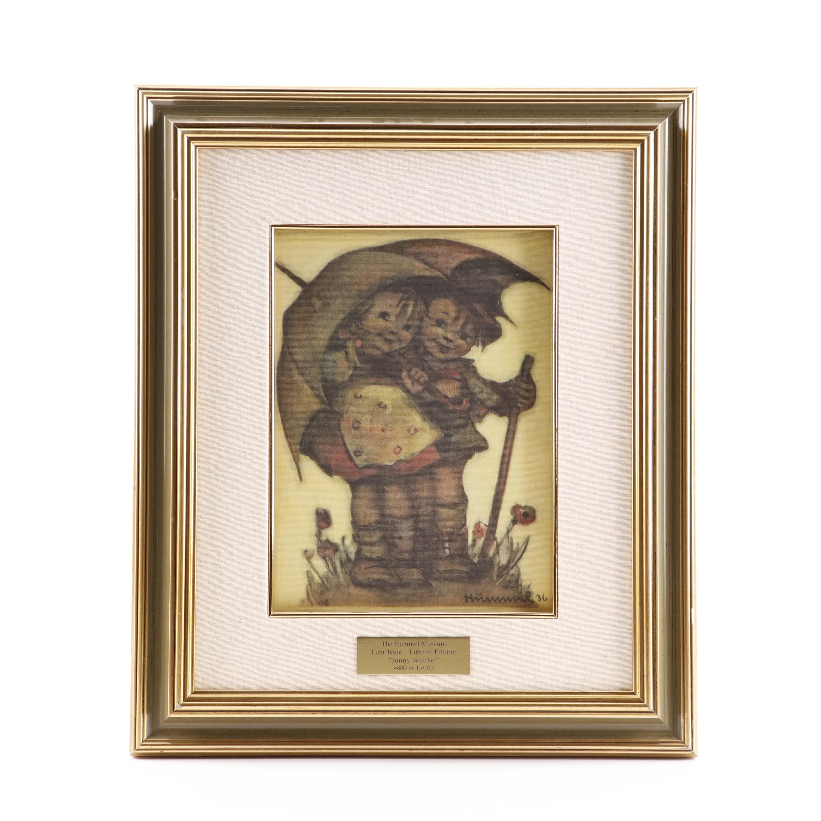 """Limited Edition Offset Lithograph after Maria Innocentia Hummel """"Sunny Weather"""""""