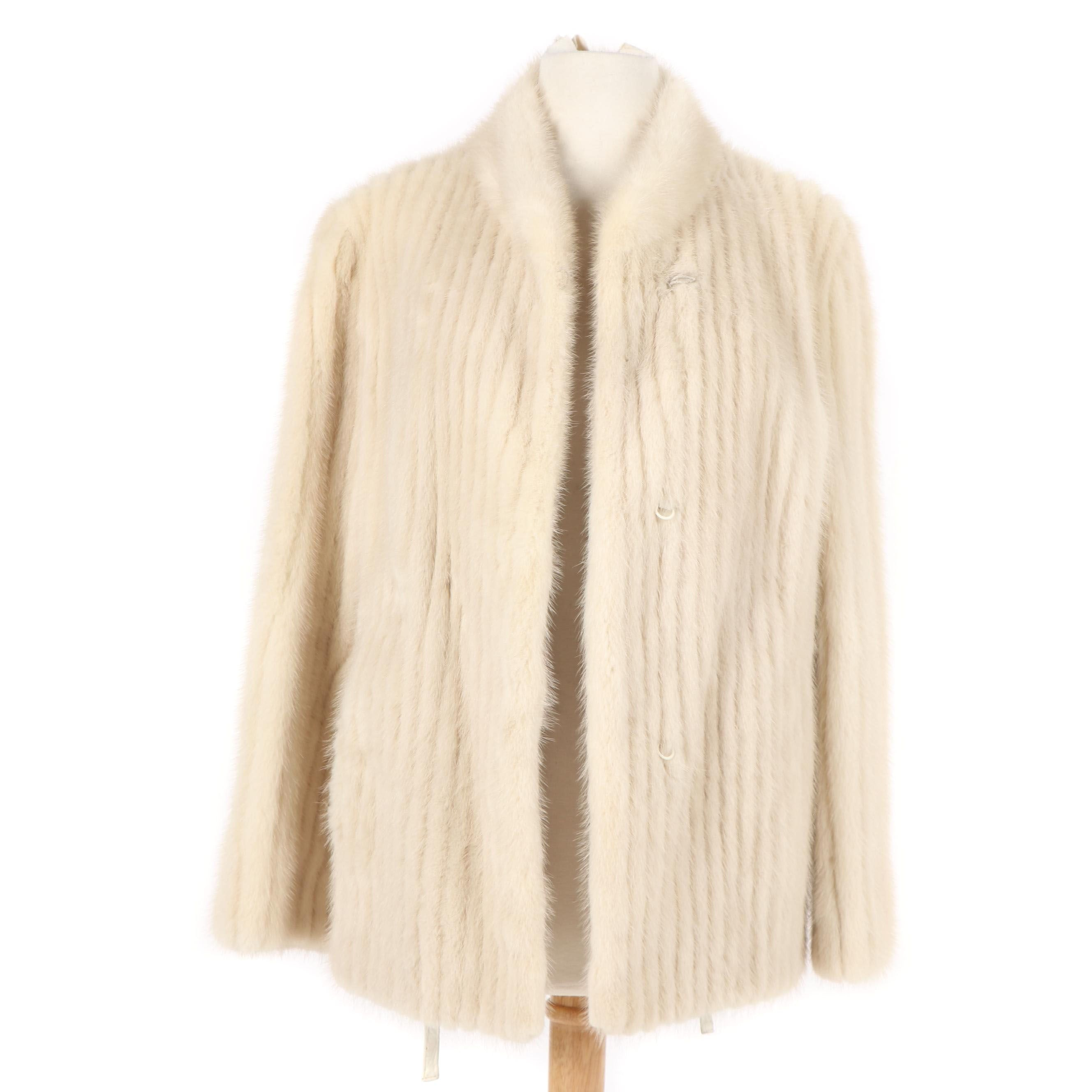 Women's Kahnert Furs of Toronto Channel Cut Tourmaline Mink Fur Jacket