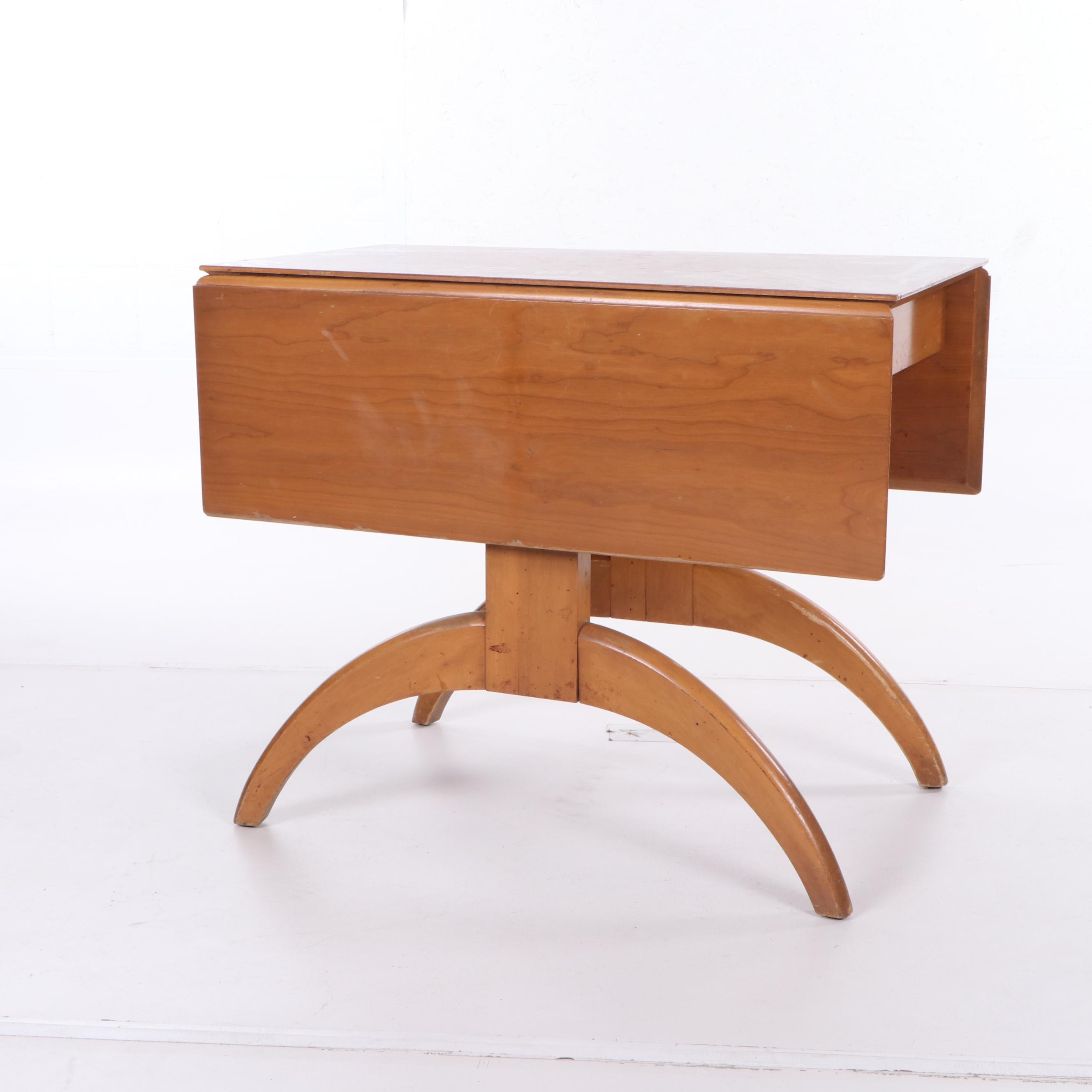 Mid Century Modern Butterfly Style Maple Drop Leaf Breakfast Table, 20th Cent.