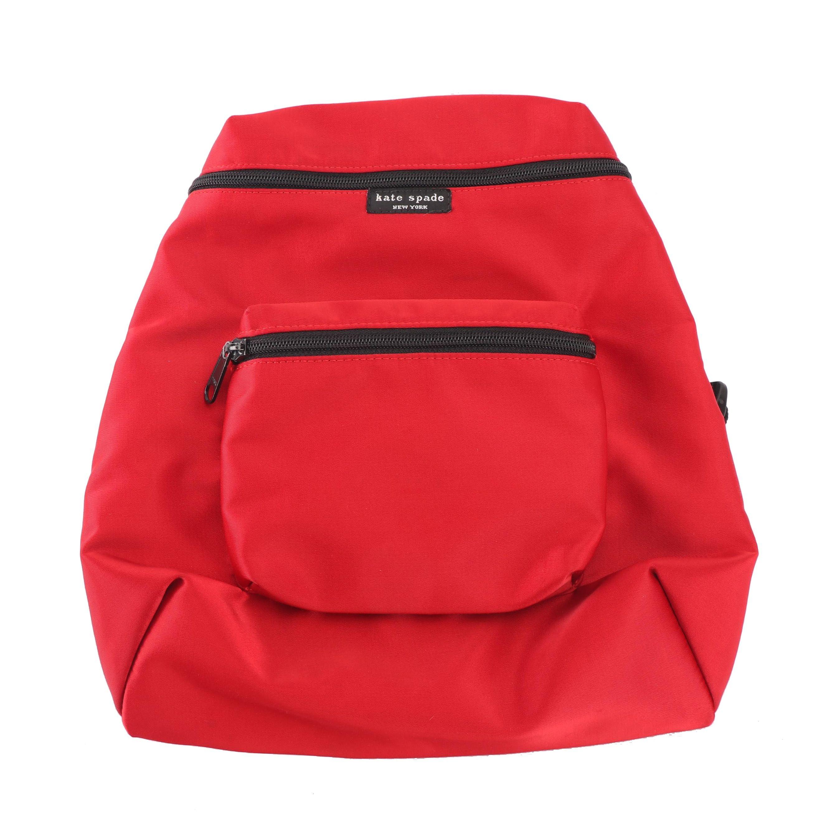 Kate Spade New York Red Nylon Backpack