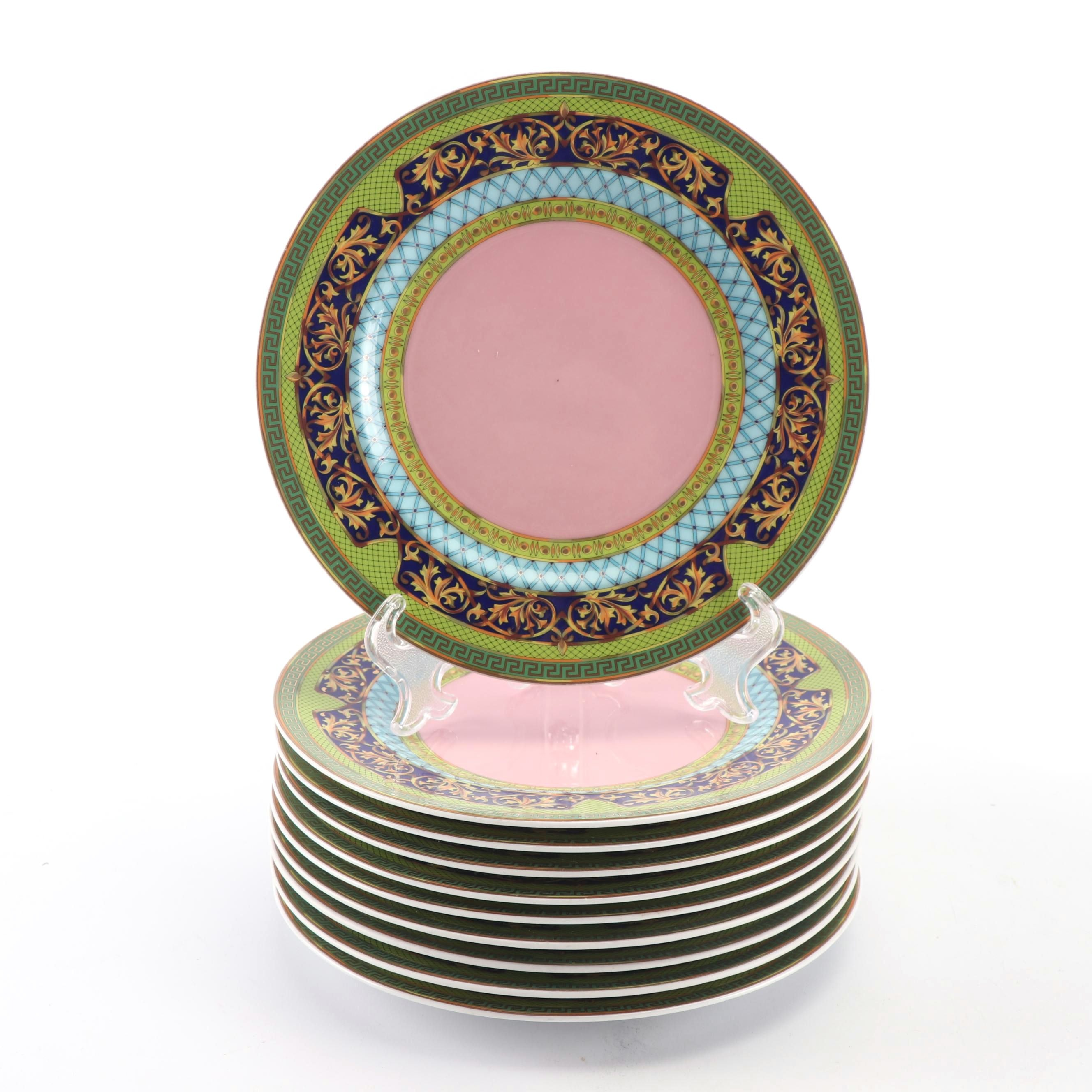 "Versace for Rosenthal ""Russian Dream"" Porcelain Bread and Butter Plates"