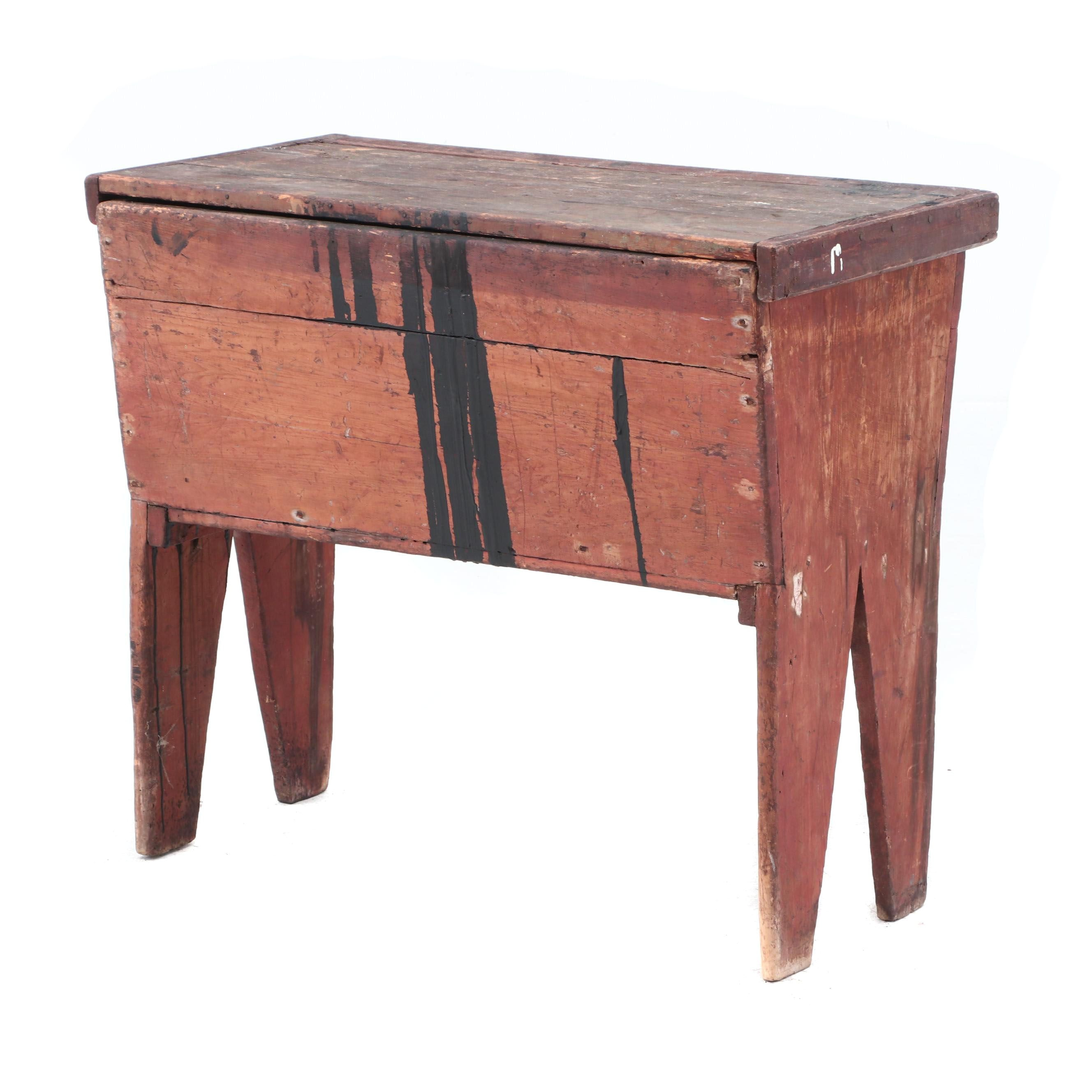 Antique Primitive Work Table