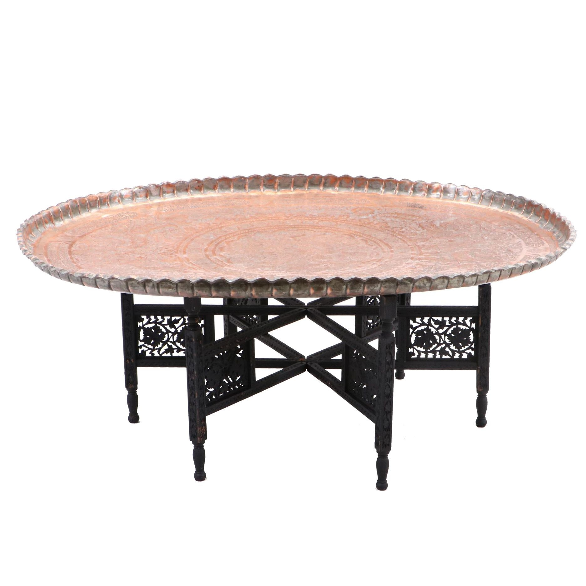 Indian Copper Tray Top Table