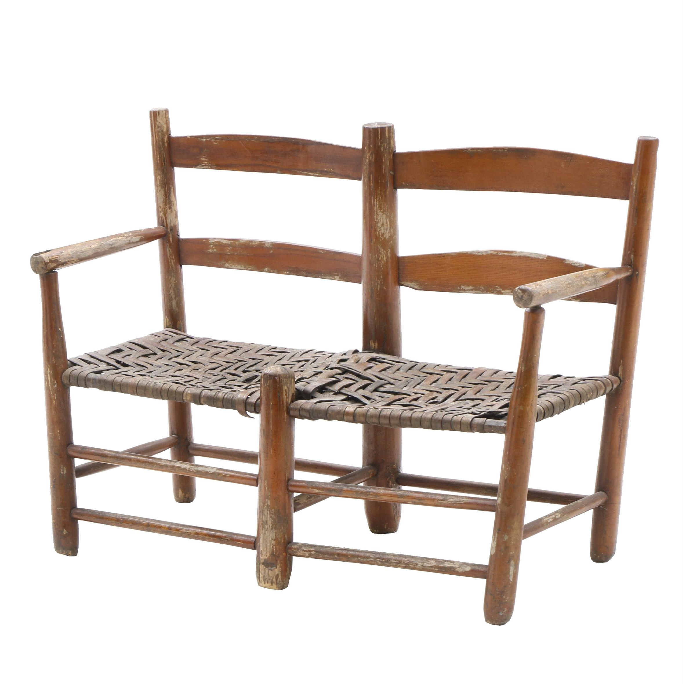 Early 20th Century Child's Rustic Bench