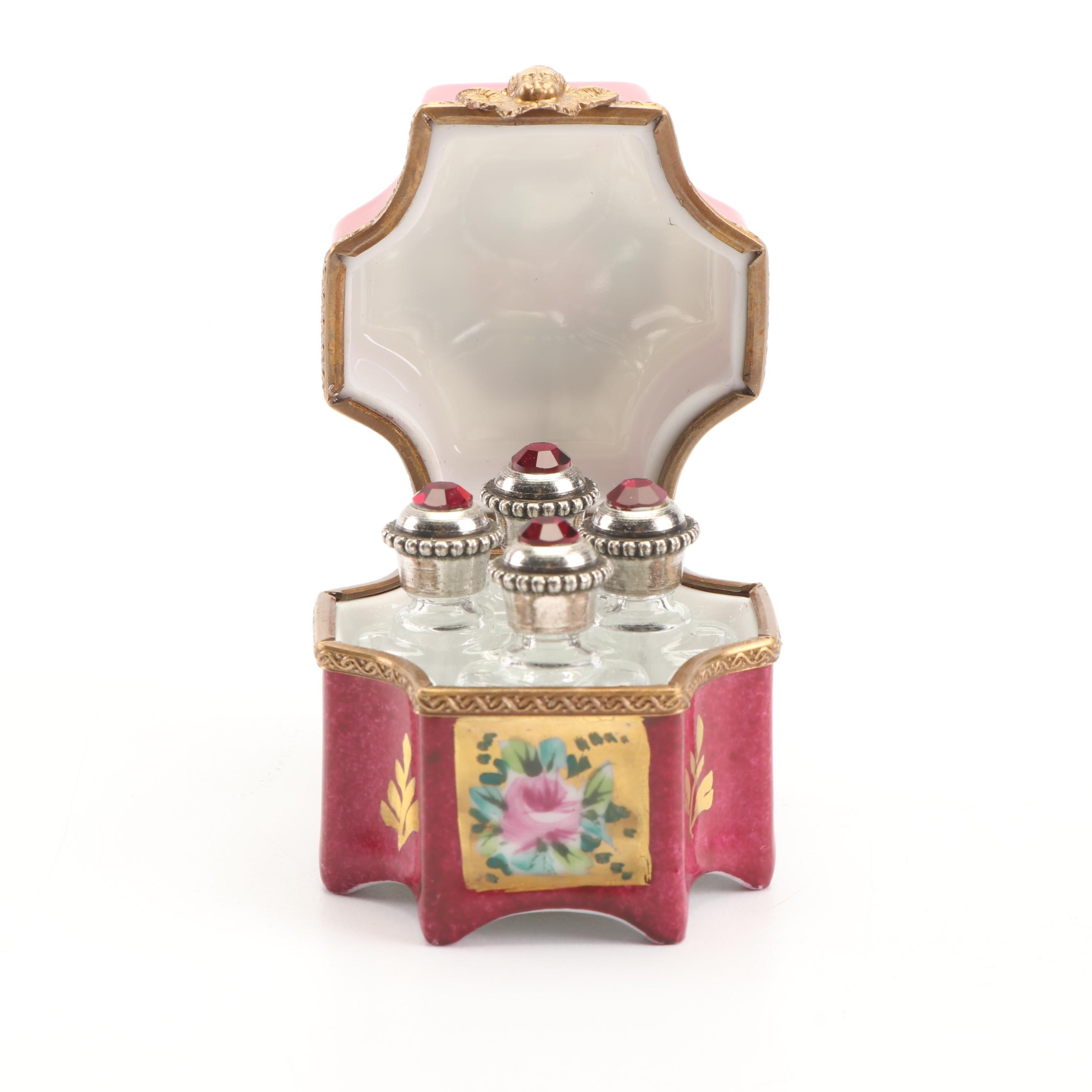 La Gloriette Limoges Perfume Bottle Coffret