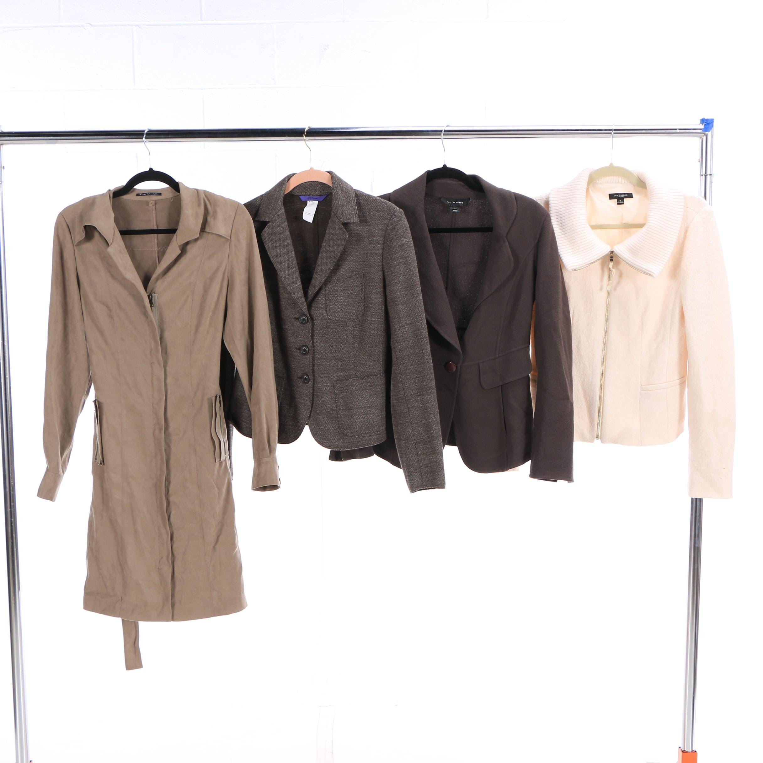 Women's Outerwear and Blazers Including St. John and Elie Tahari