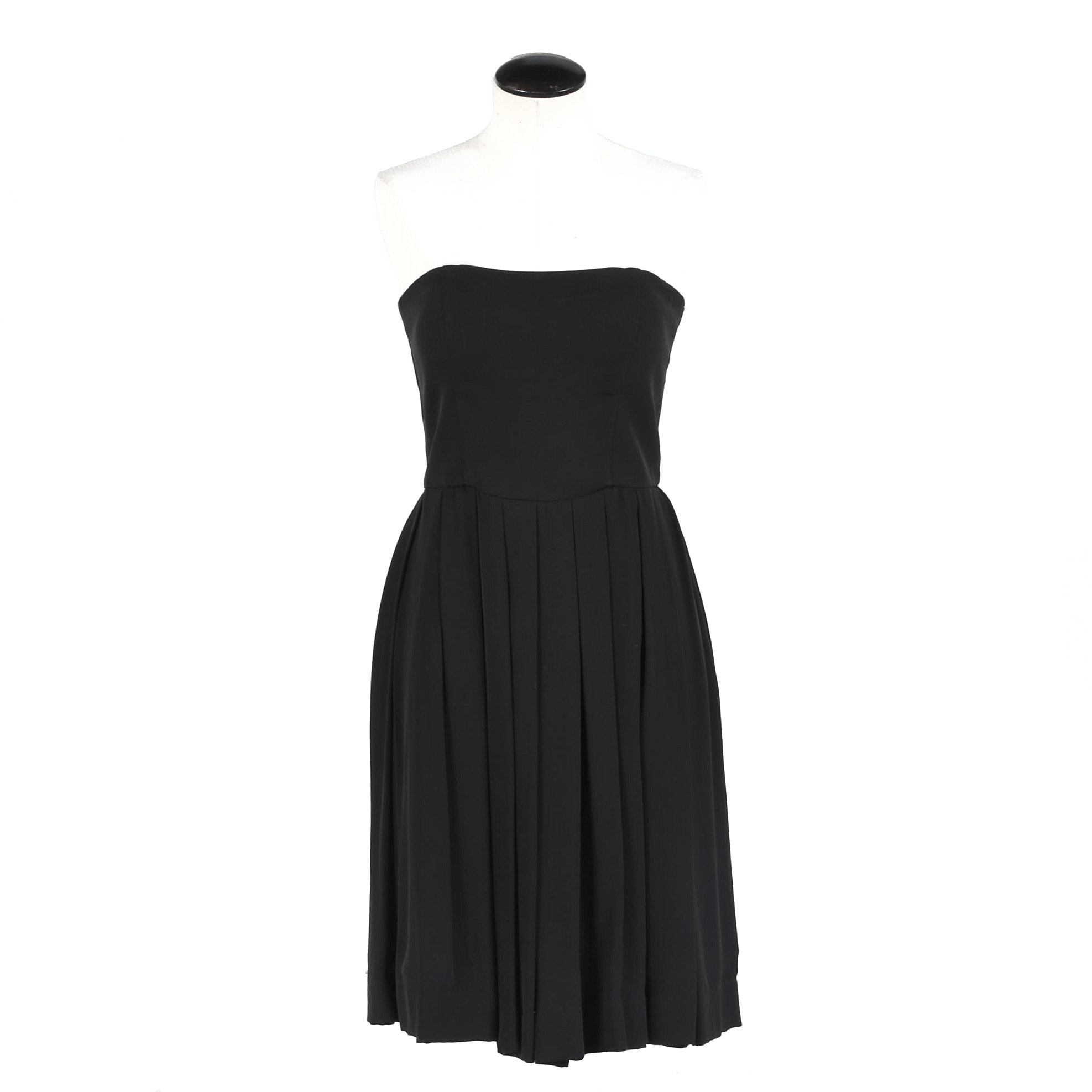 Armani Collezioni Black Silk Strapless Dress, made in Italy