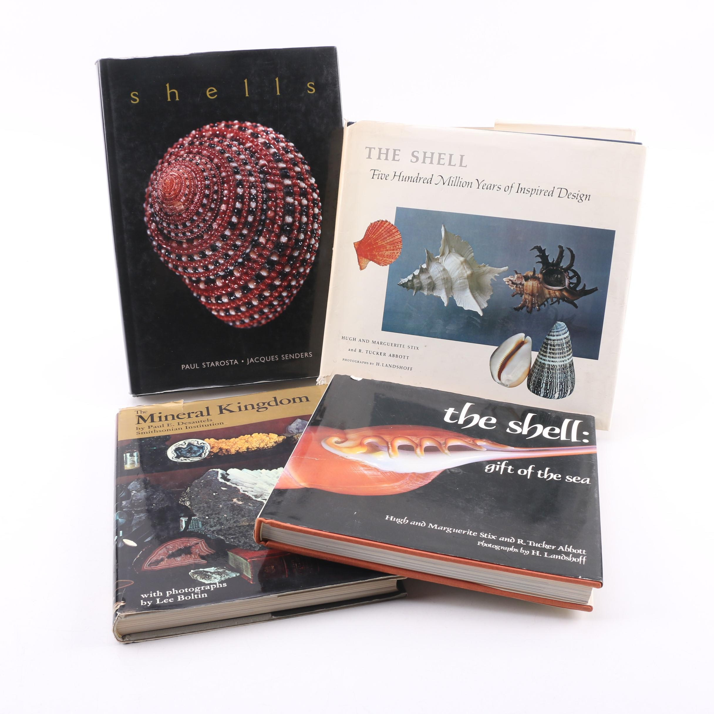 Nature Books on Shells and Minerals