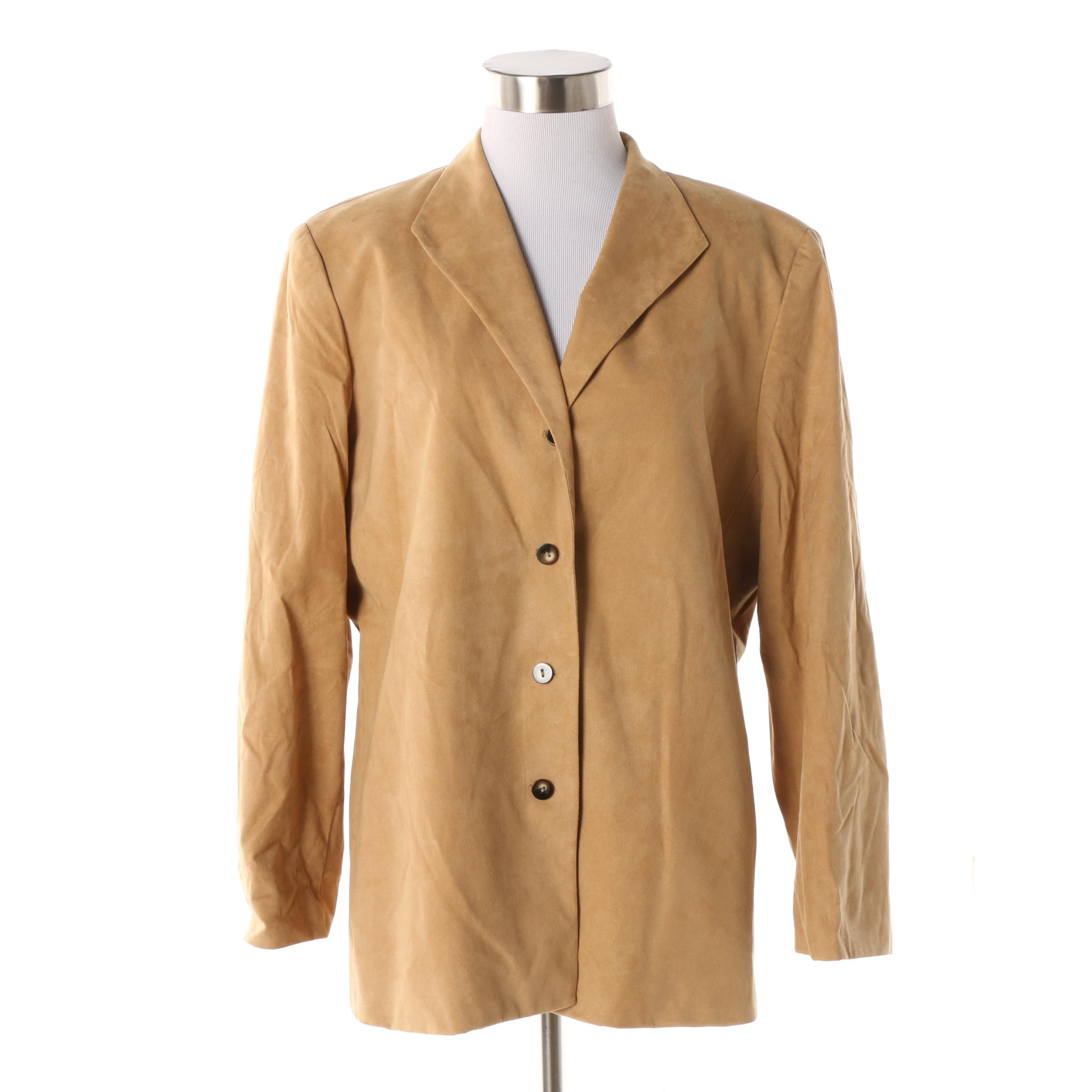 Women's Garfield & Marks Camel-Colored Faux Leather Jacket
