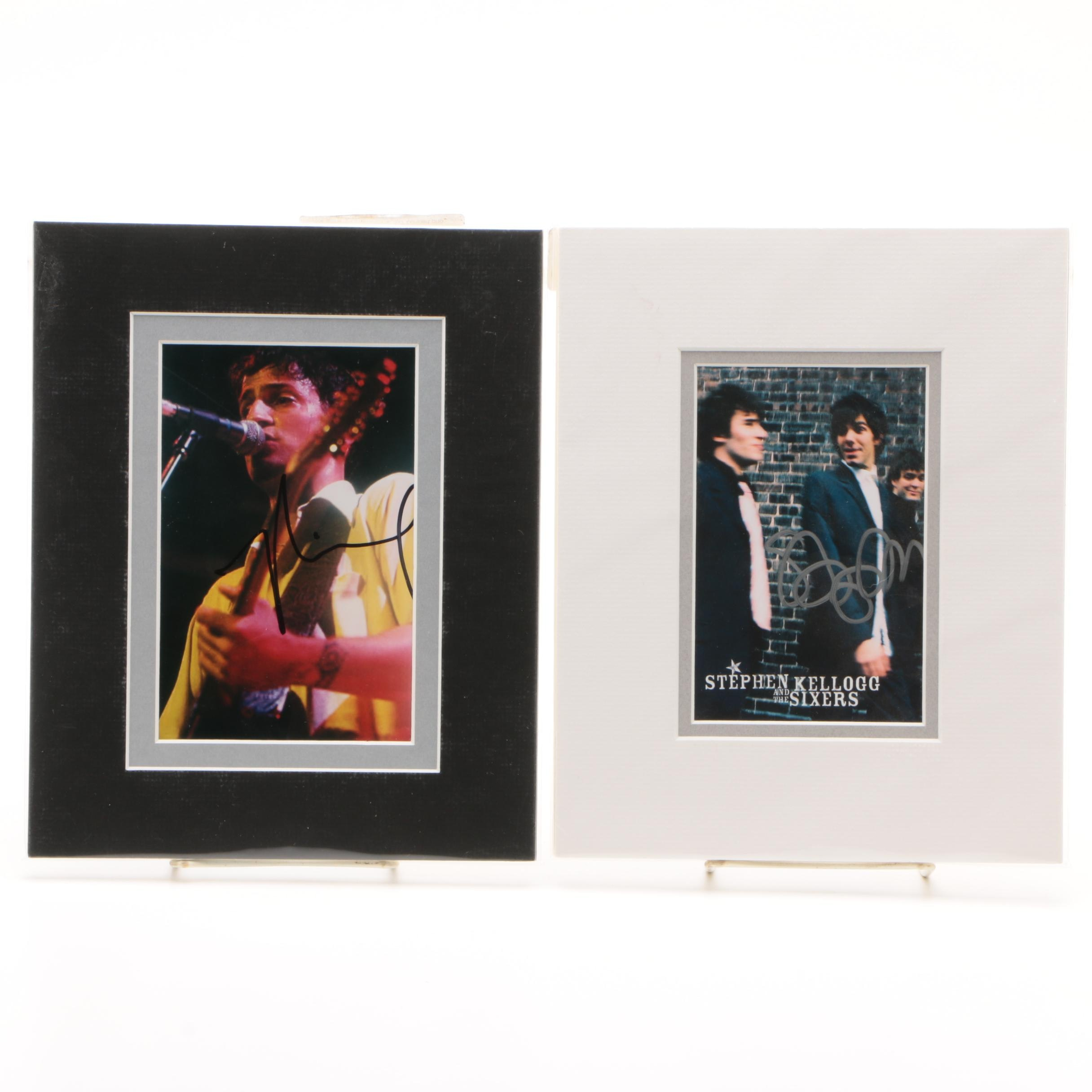 Stephen Kellogg and Michael Tolcher Autographed Photos