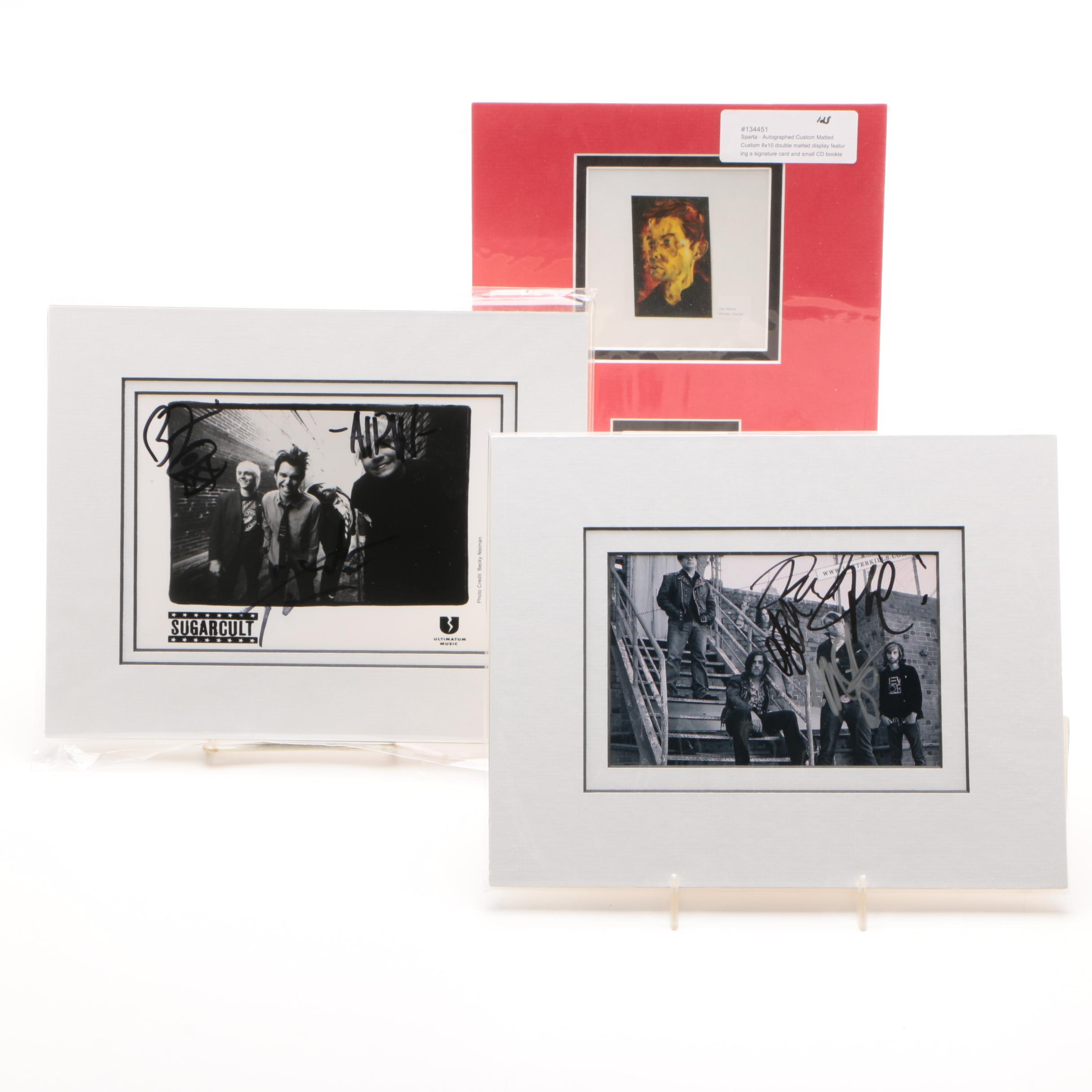 Sugarcult and Other Rock Band Autographed Photos