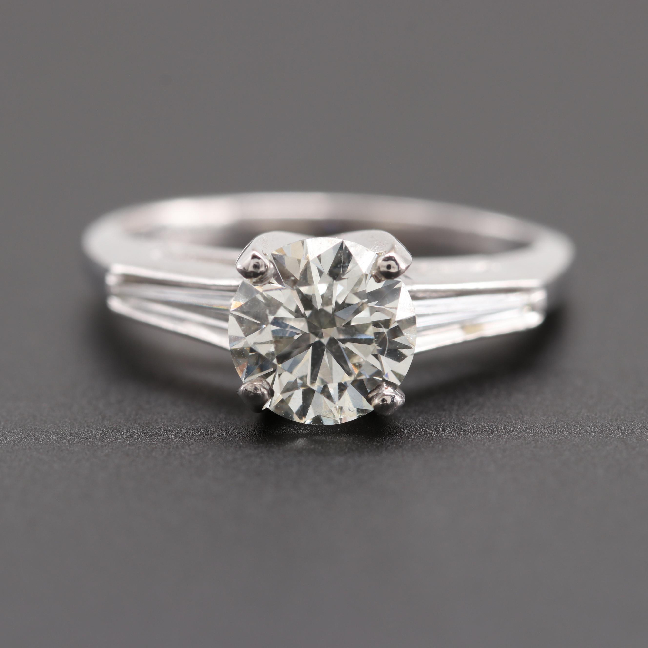 Platinum 1.67 CTW Diamond Ring