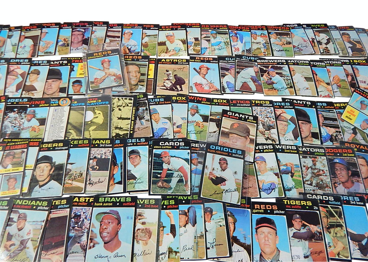 1971 Topps Baseball Card Collection with Aaron #400, Fr. Robinson and More